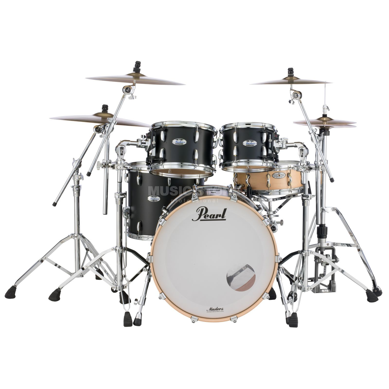 Pearl Masters Maple Complete MCT924XEP/C, Matte Caviar Product Image