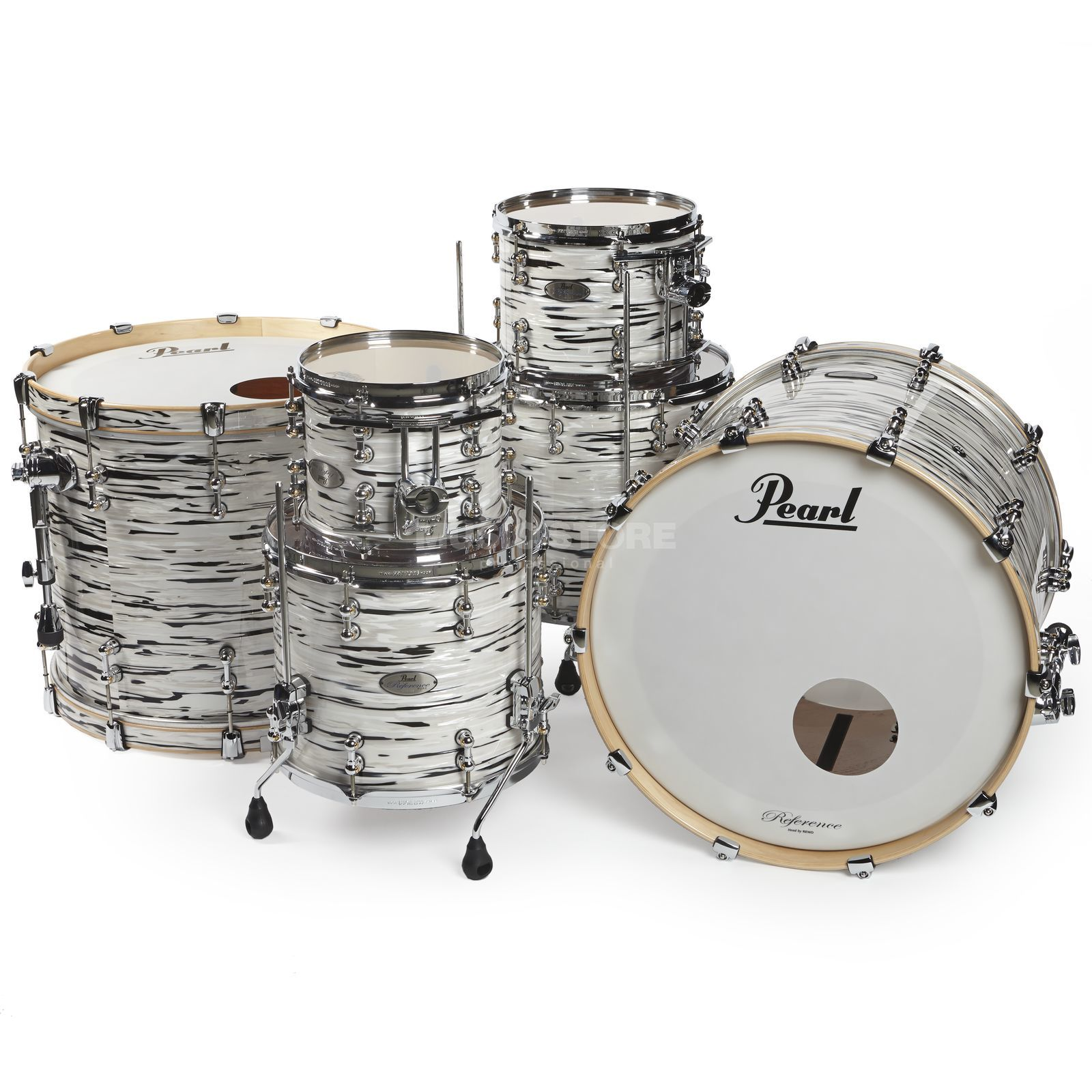 Pearl Reference Pure Double Bass Shell-Set Black & White Oyster Zdjęcie produktu