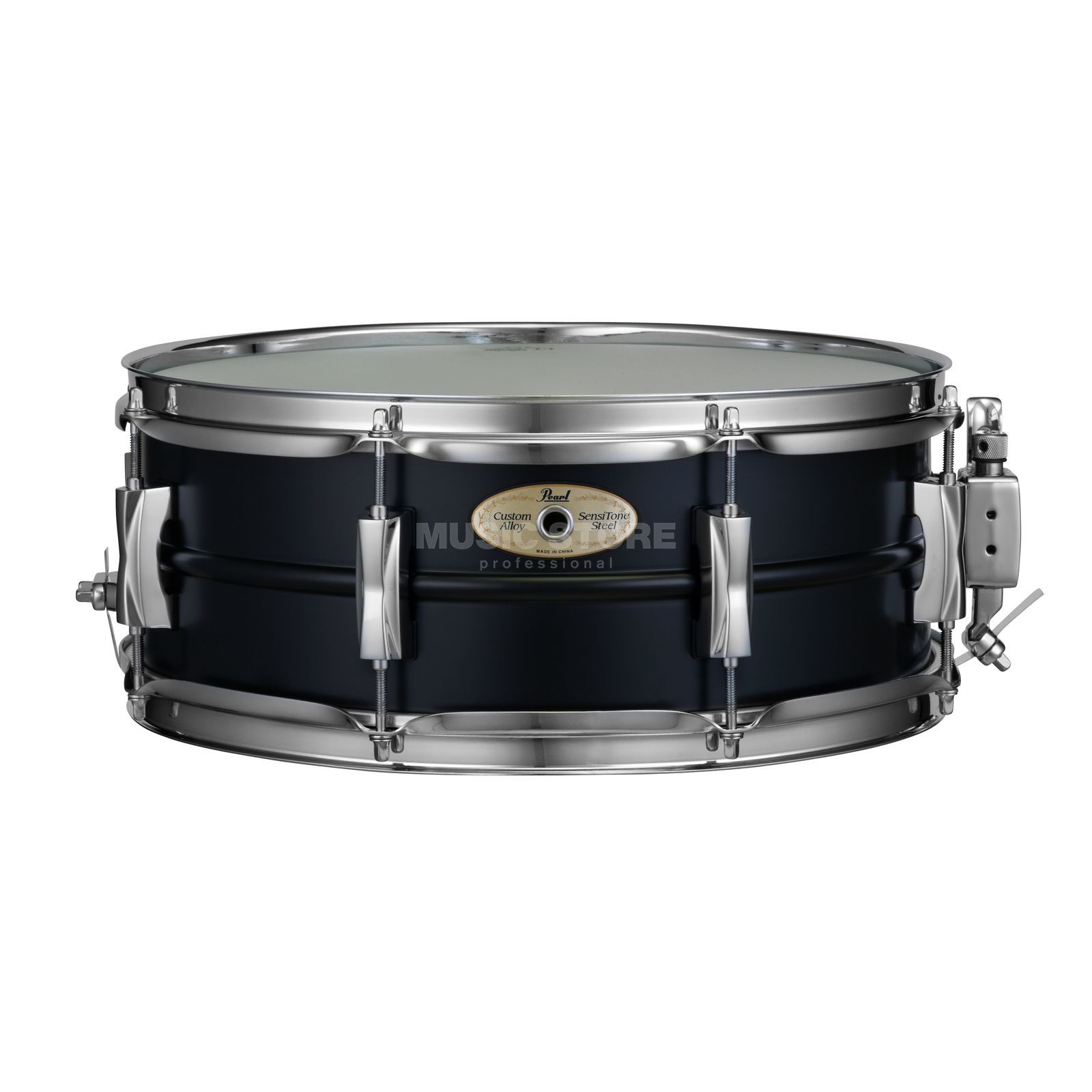 "Pearl Sensitone Snare SS1455SB/C, 14""x5,5"", Black Steel Product Image"