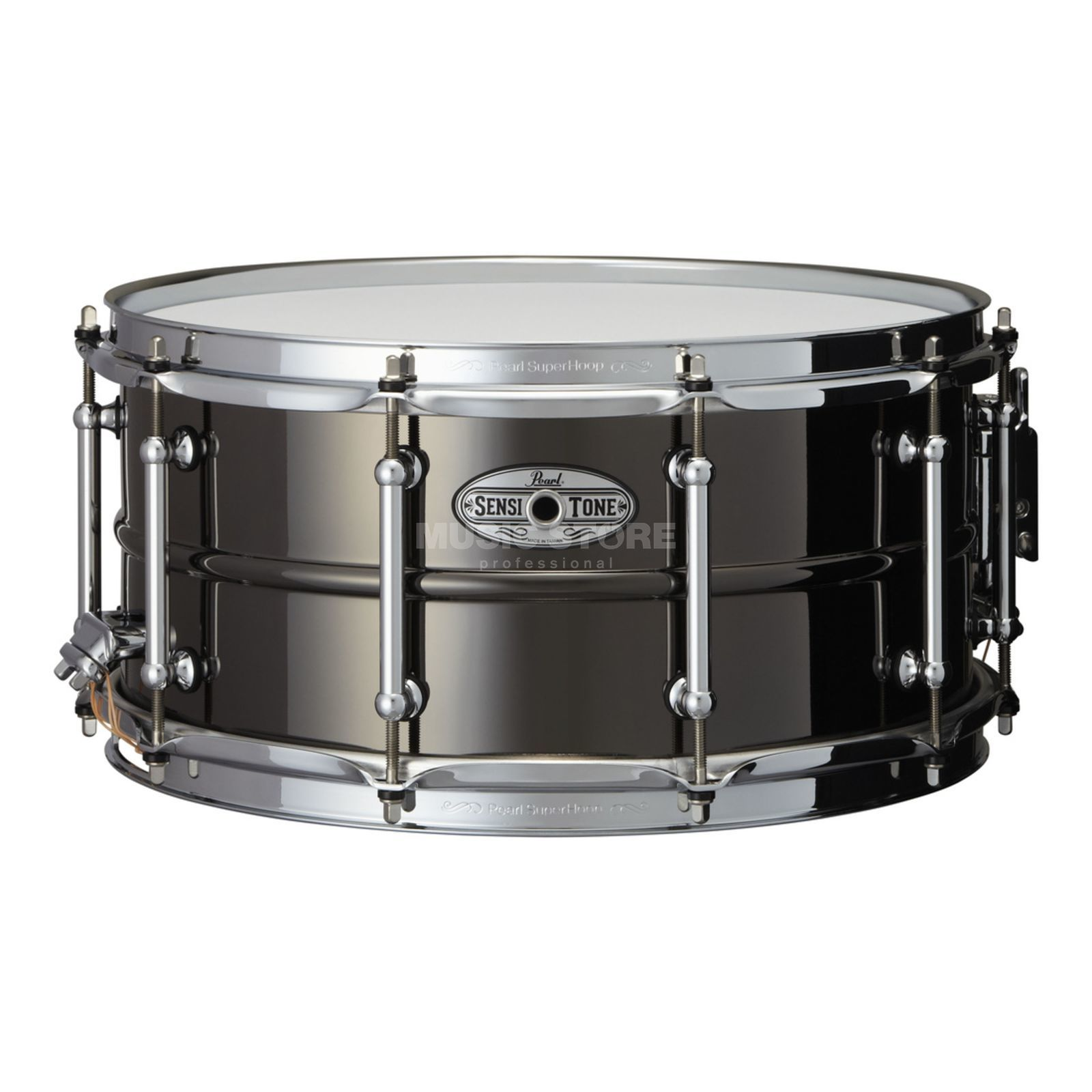 "Pearl Sensitone Snare STA-1465BR, 14""x6.5"", Black Nickel / Brass Produktbillede"