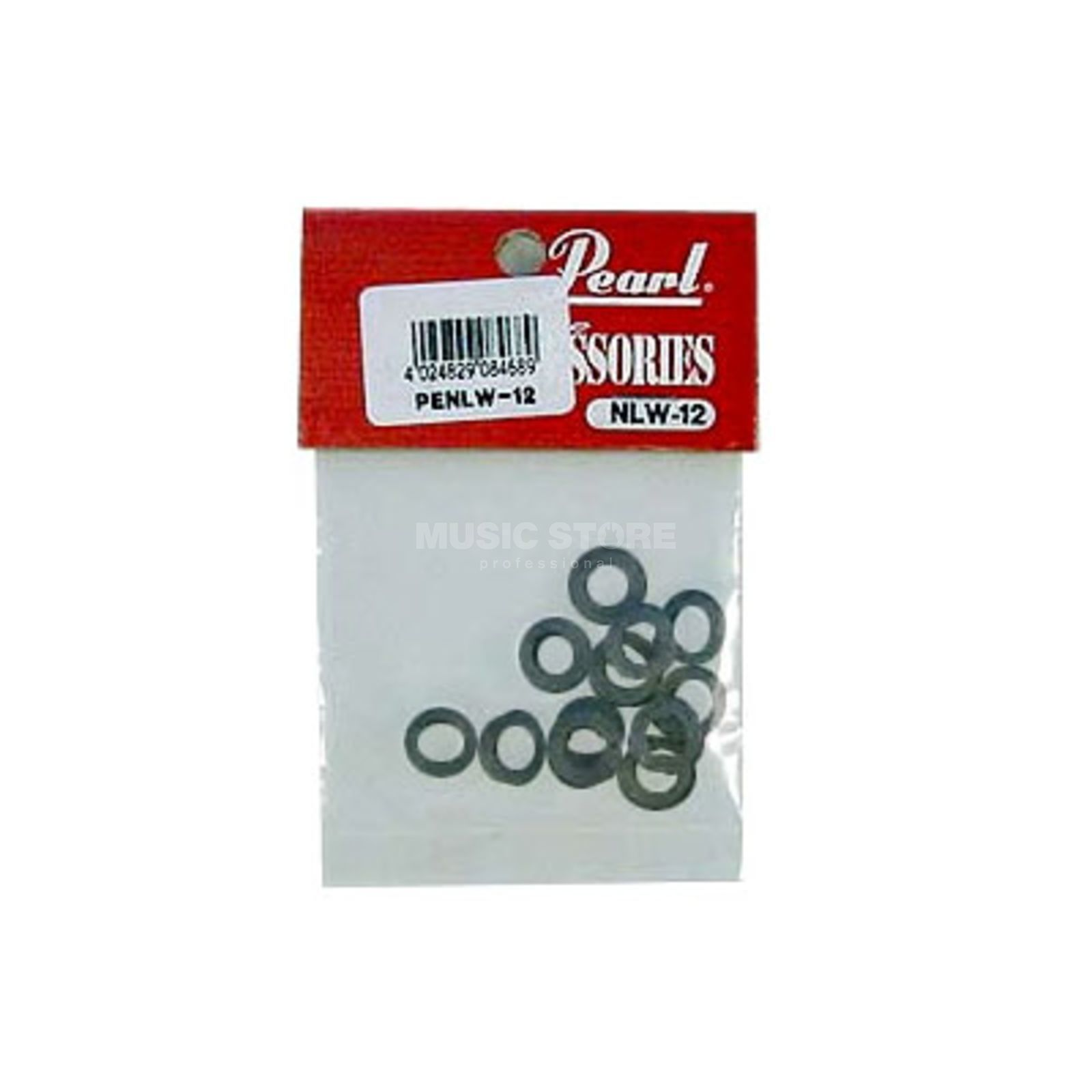 Pearl Washers NLW-12B/12, nylon, black, 12 pcs Produktbillede