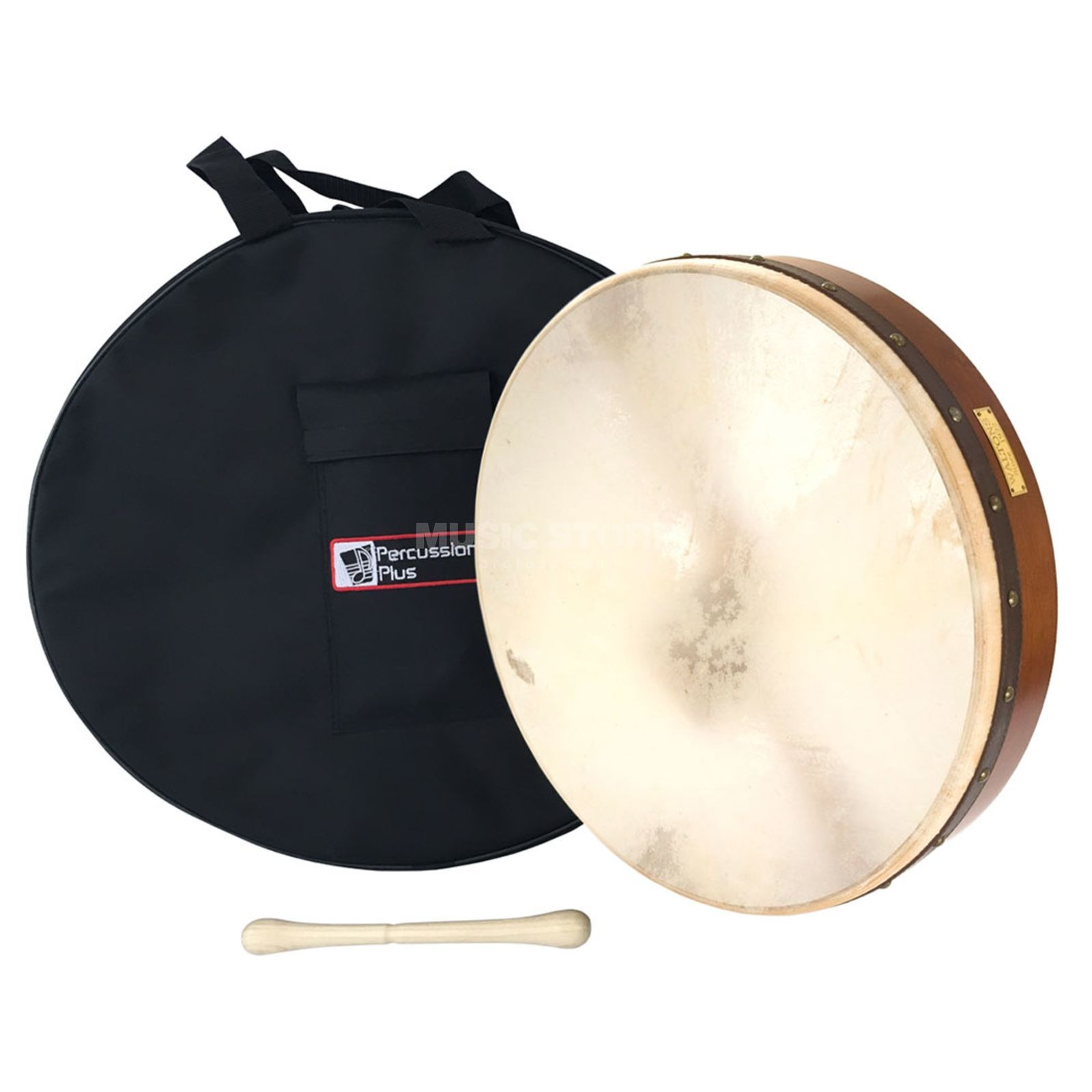"Percussion Plus PP1112 Bodhran 18"" plain, incl.  Beater, bag, book Produktbillede"
