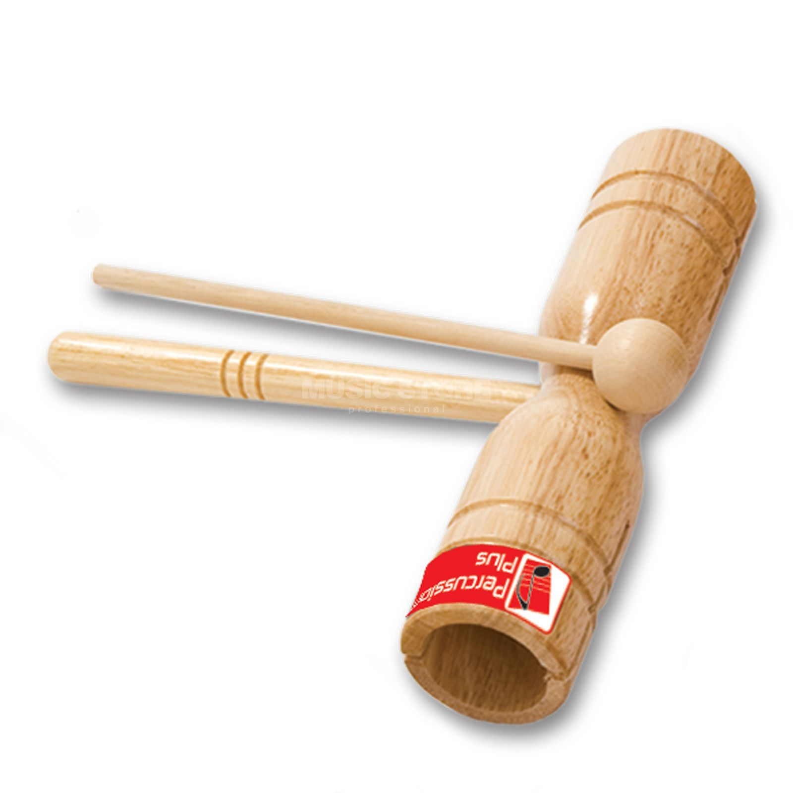 Percussion Plus PP253 WoodBlock, two tone incl. Beater Produktbild