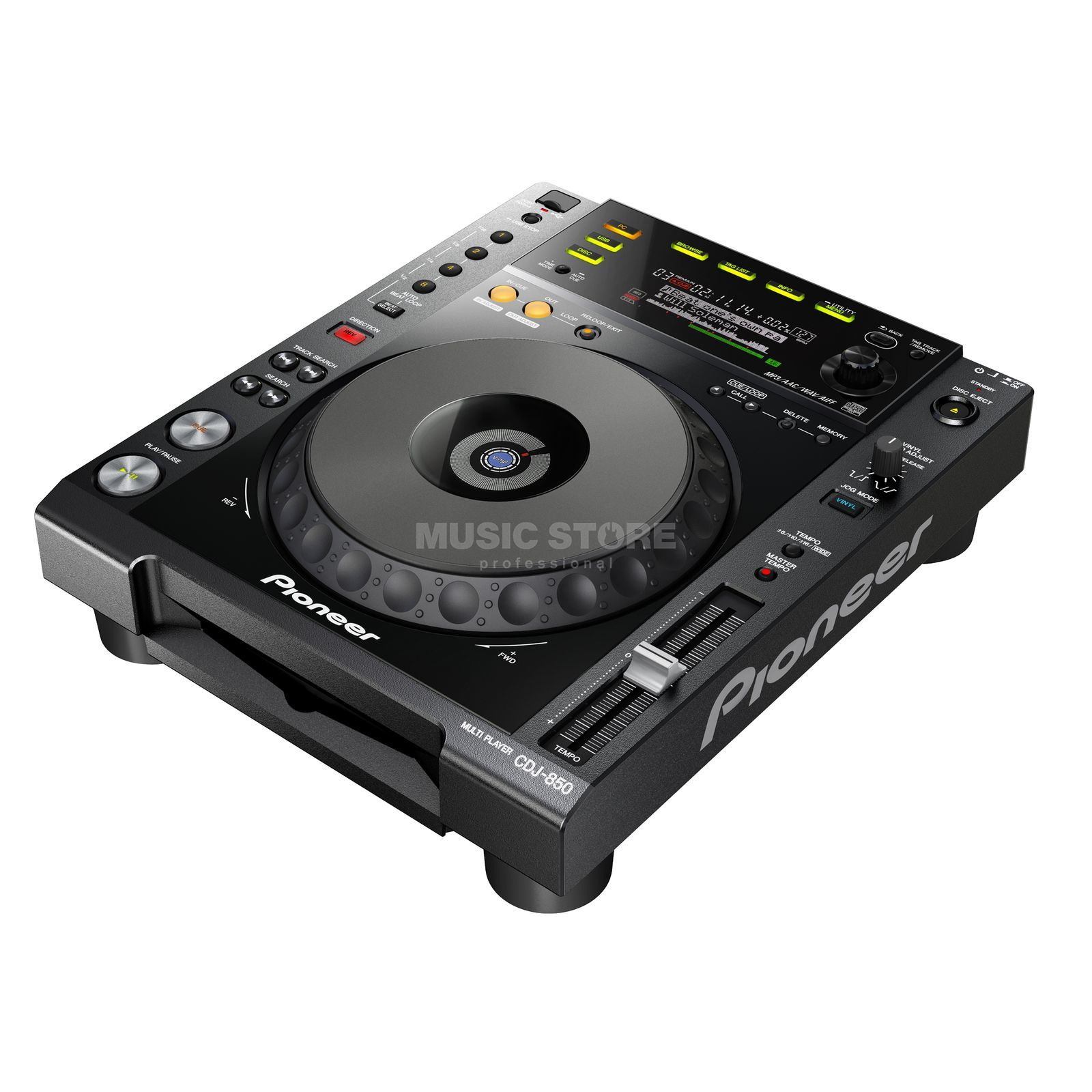 Pioneer DJ CDJ-850-K Digital Multi Player, Black Produktbillede