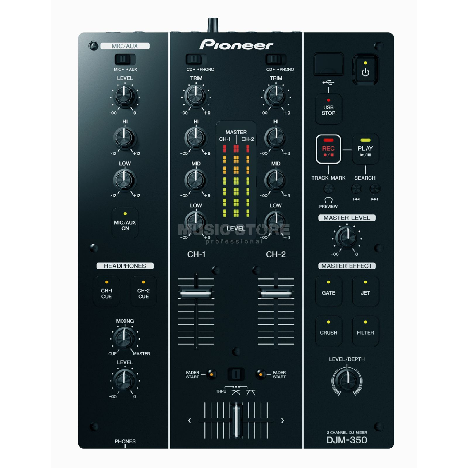 Pioneer DJM-350 2 Channel DJ Mixer with USB Product Image