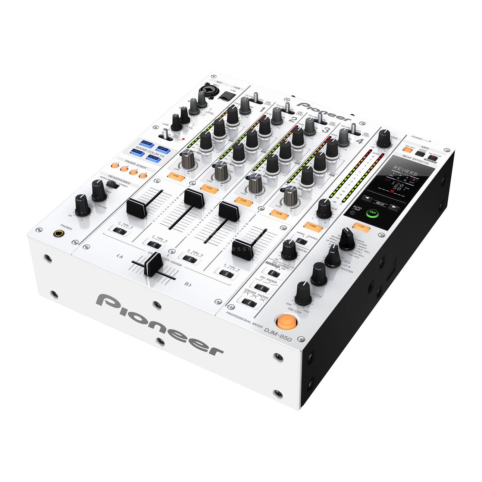 Pioneer DJM-850-W Professional DJ Mixer, White Product Image