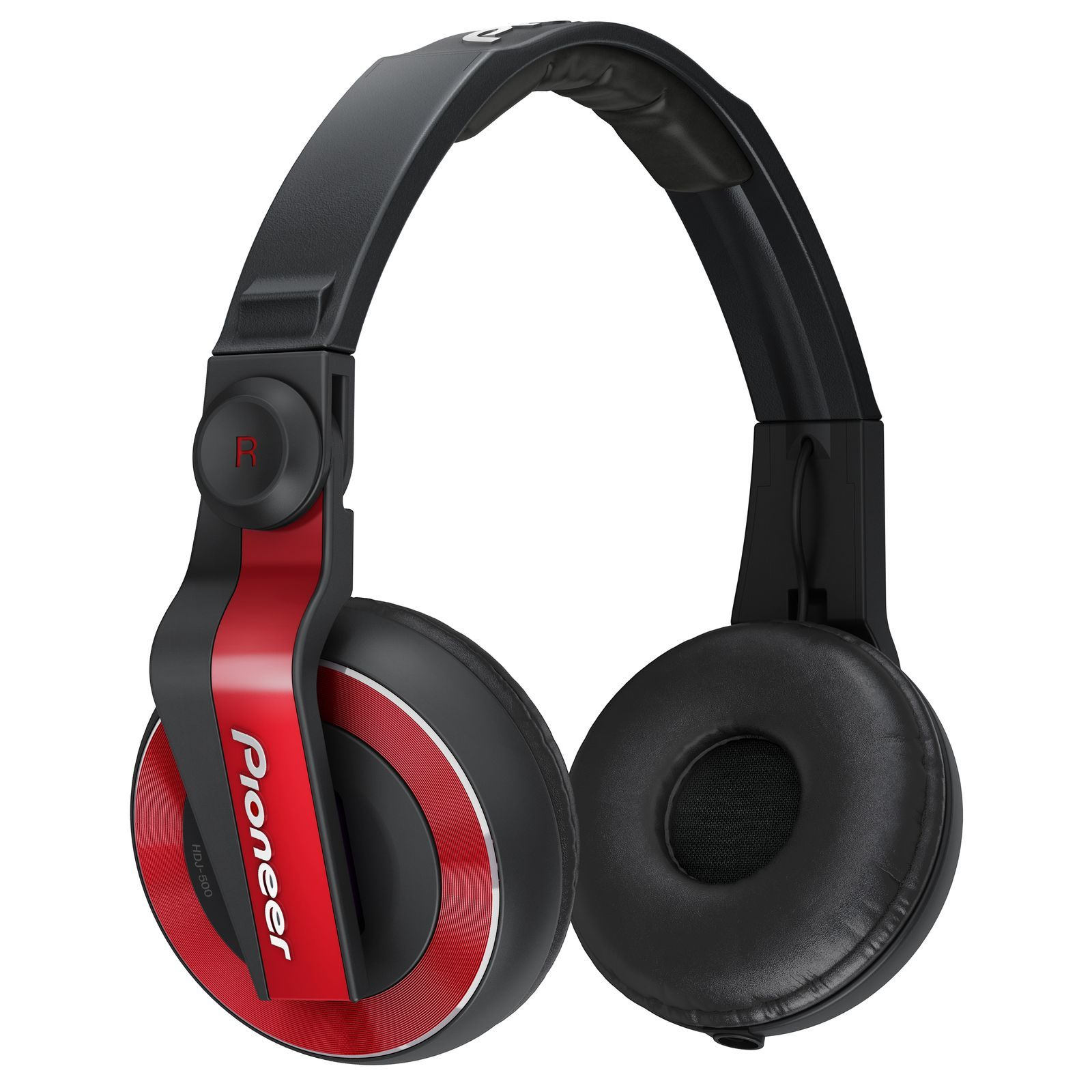 Pioneer HDJ-500-R Red DJ Headphones Product Image