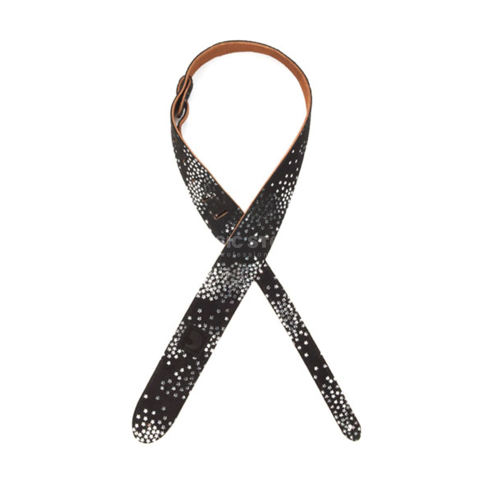 Planet Waves Guitar Strap 20SD02 Star Print Two Ply Suede Design Produktbillede