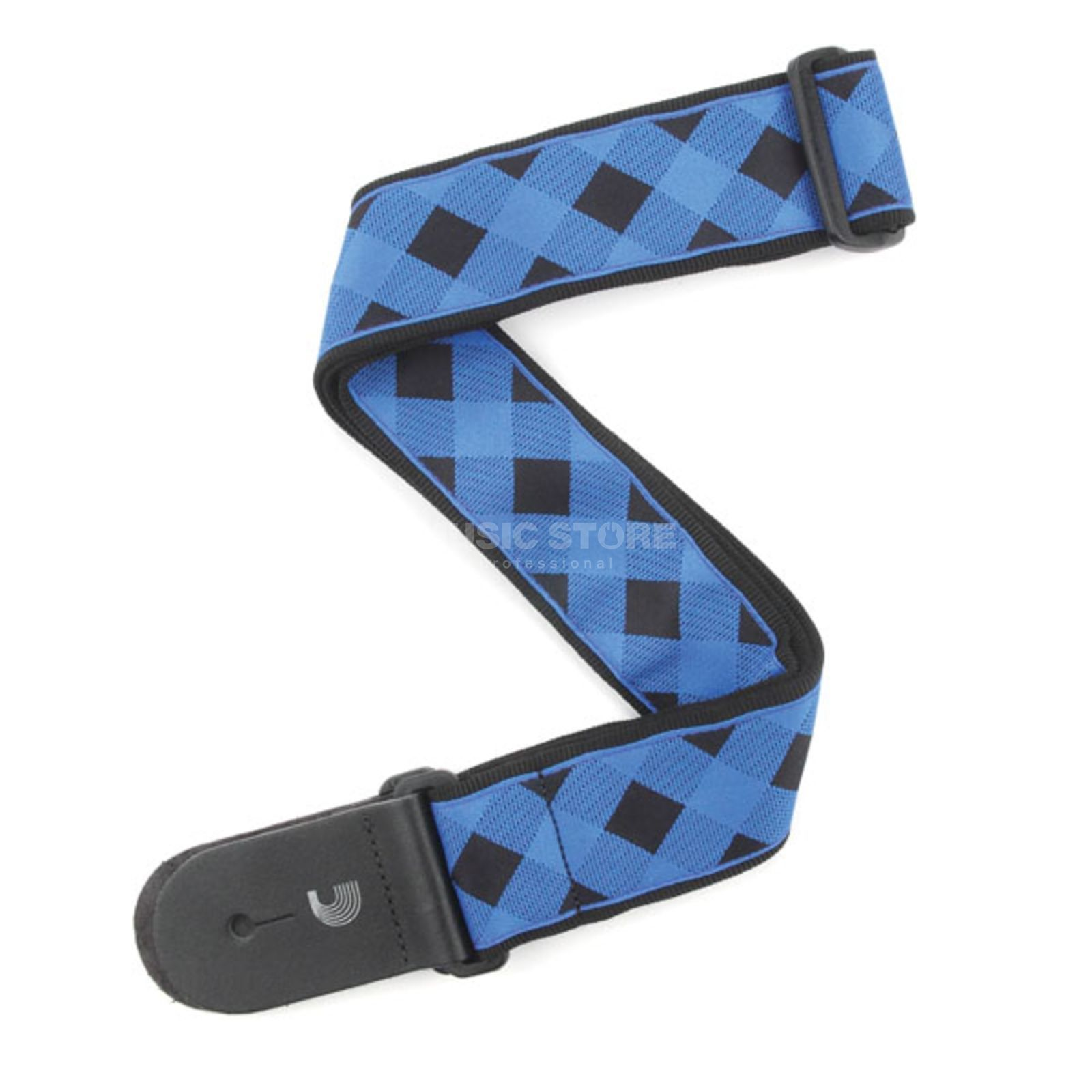 Planet Waves Guitar Strap T20W1405 Buffalo Check, Blue Produktbillede