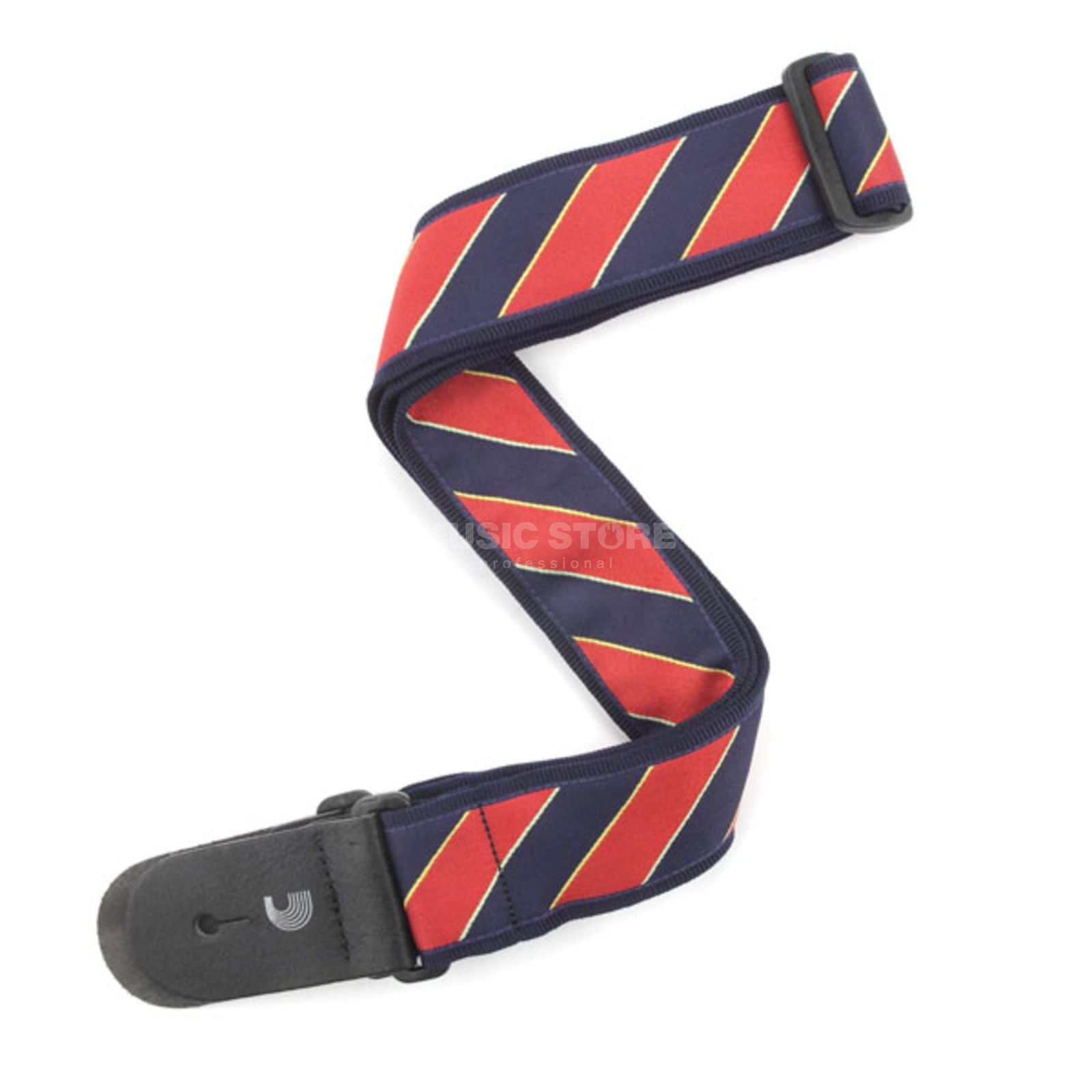 Planet Waves Guitar Strap T20W1410 Tie Stripes, Blue/Red Produktbillede
