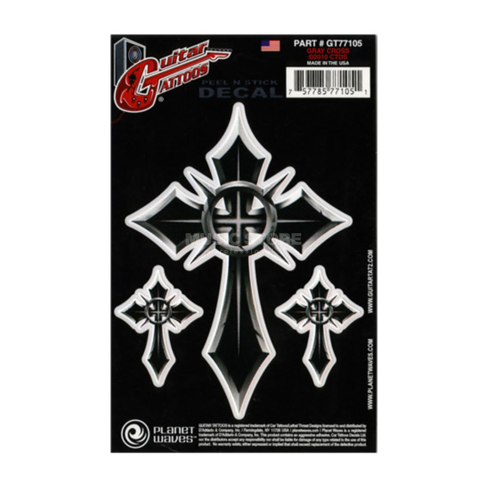 Planet Waves Guitar Tattoo - Gray Cross GT77105 Produktbild