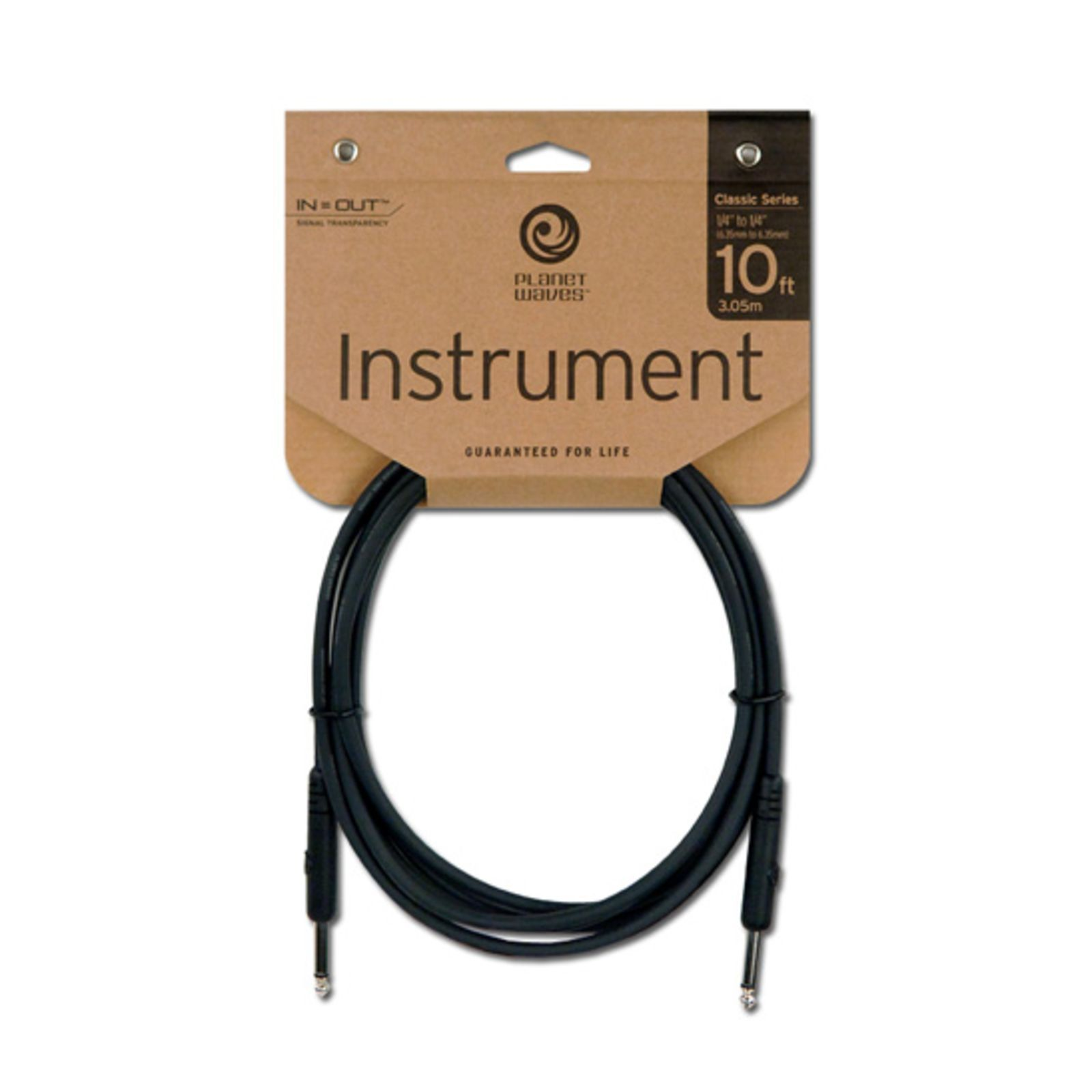 Planet Waves Instrument cable 3 meter PW-CGT-10 Straight Produktbillede