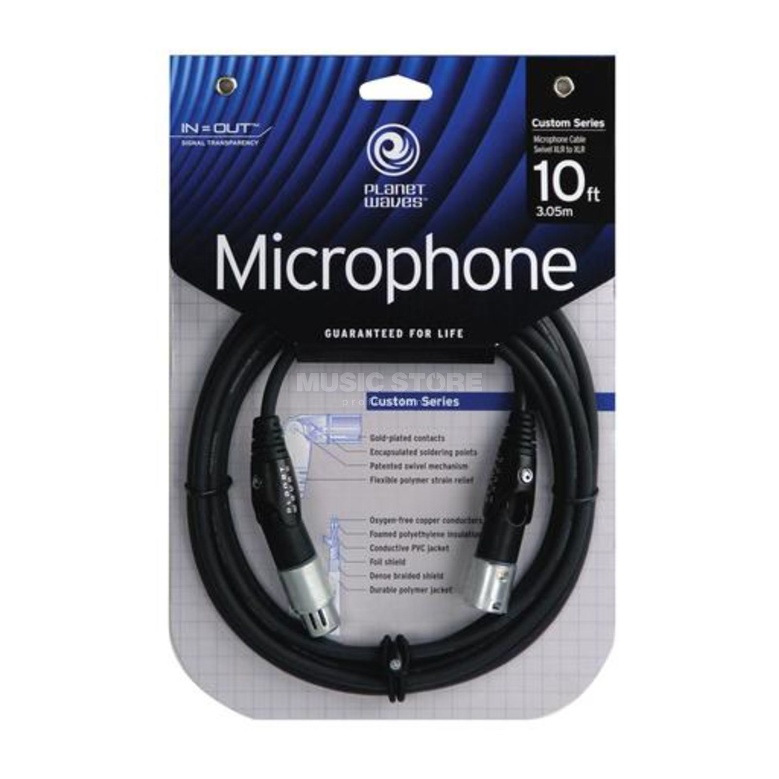 Planet Waves Mikrokabel 3m XLR Swivel XLR Stecker Produktbild