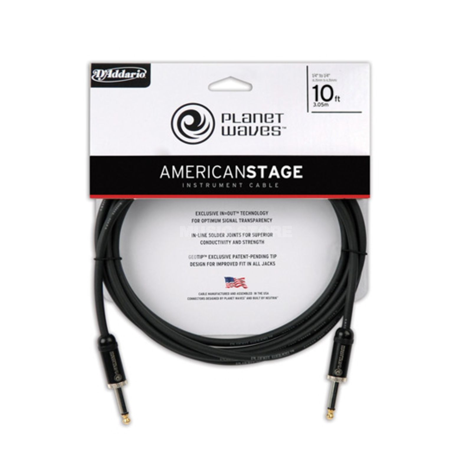 Planet Waves PW-AMSG-10 American Stage 3m Instrumentenkabel Produktbild