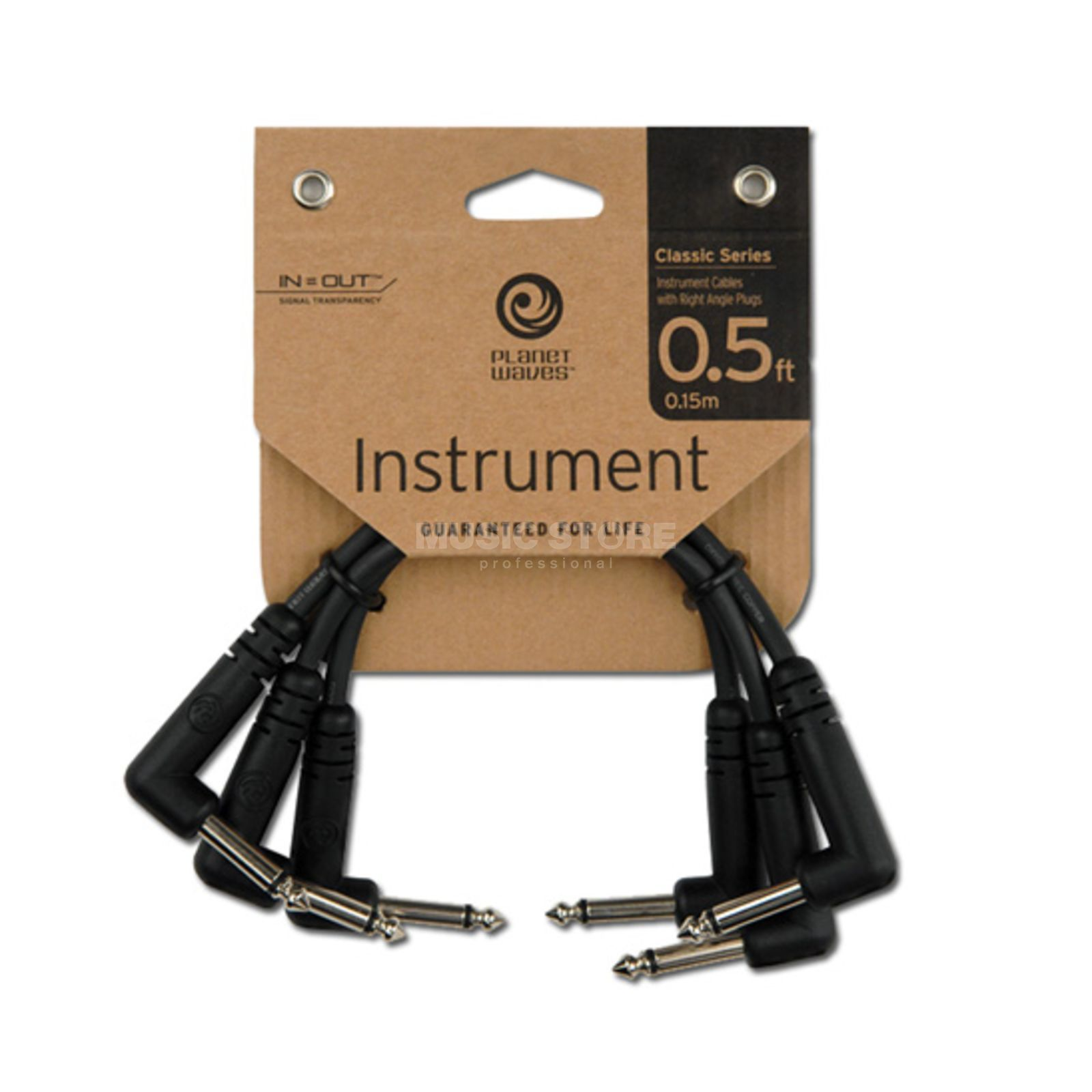 Planet Waves PW-CGTP-305 Patchkabel 15cm Winkel 3er Pack Produktbild