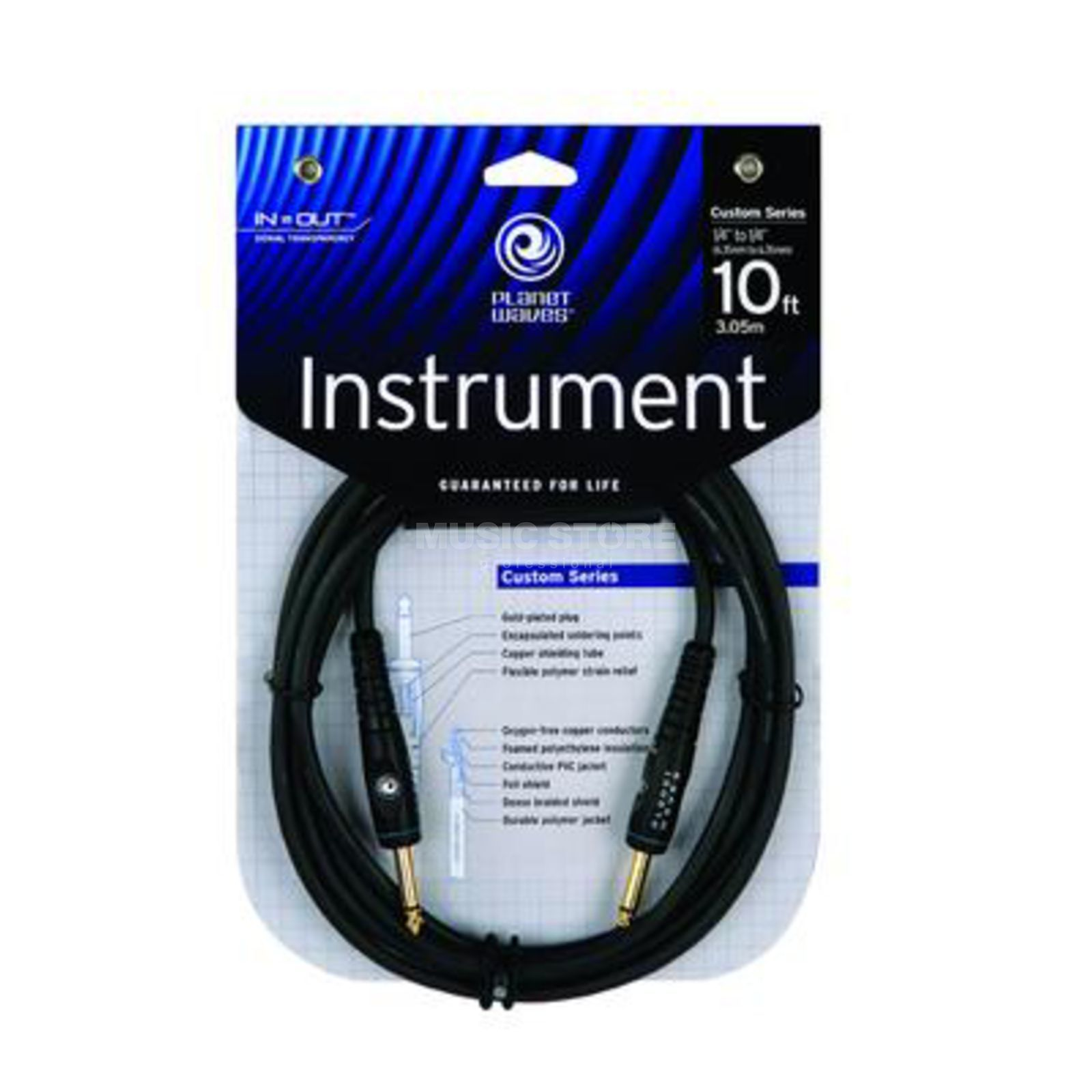 Planet Waves PW-G-10 Instrumentenkabel 3m Custom Produktbild