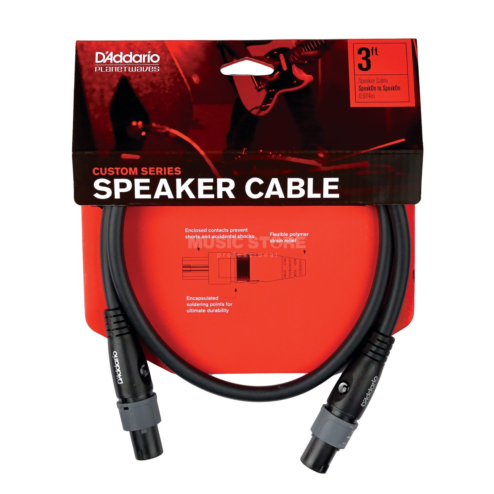 Planet Waves Speaker Cable 1,5m Speakon PW-SO-05 Produktbillede