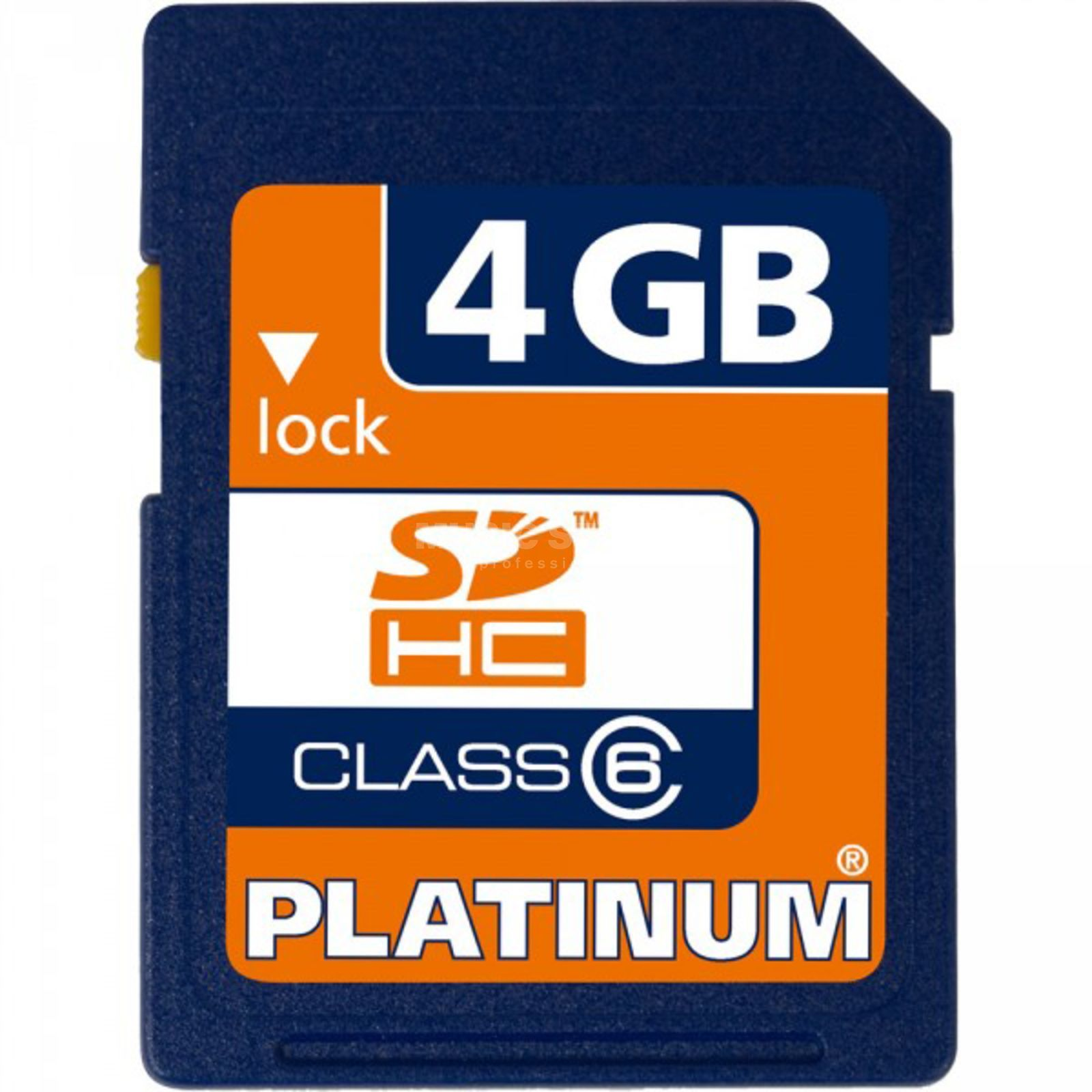 Platinum SDHC Card 4 GB High Speed SD-Card Class 6/10 Produktbild