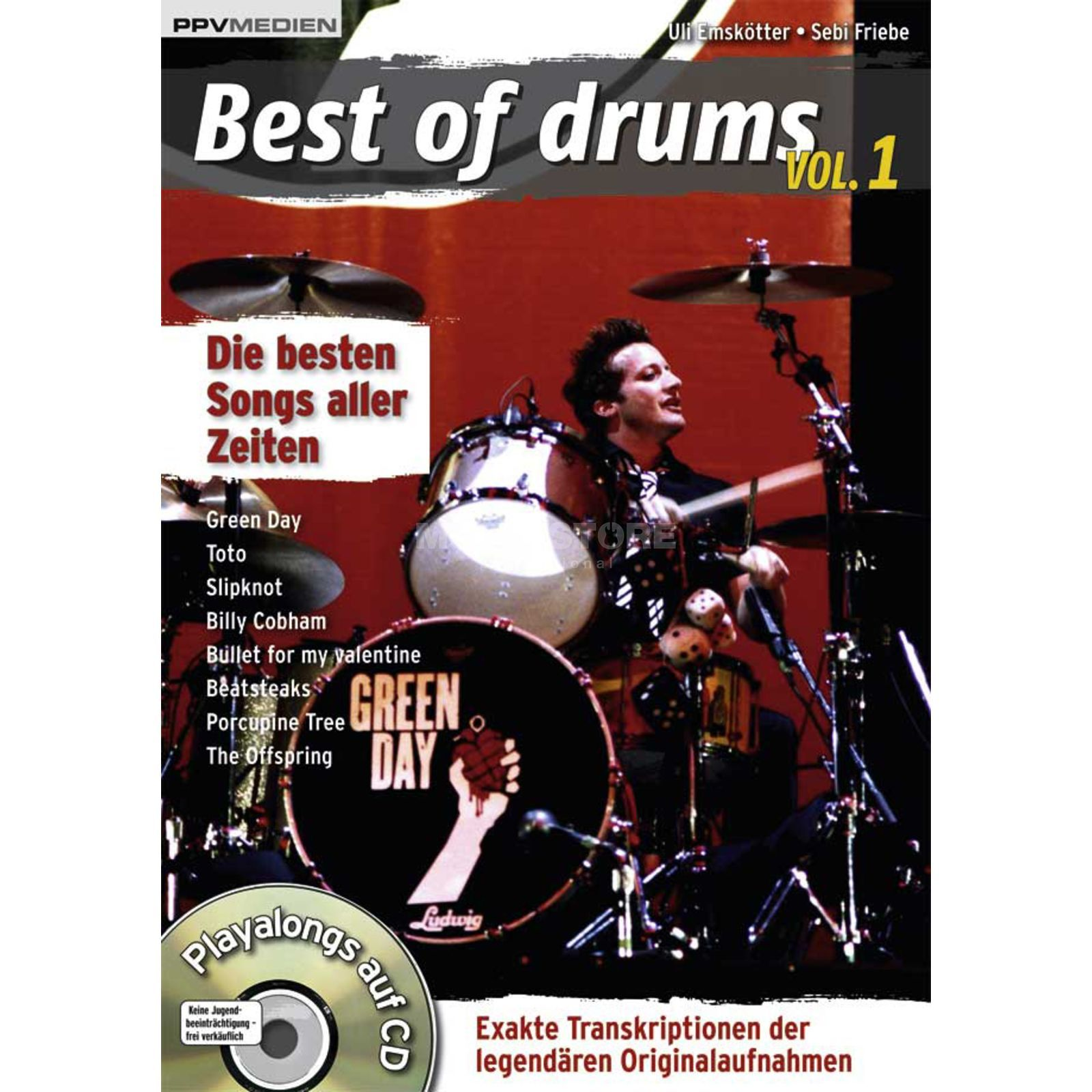 PPV Medien Best of drumheads!! Vol. 1 Playalong und Transkriptionen Produktbillede