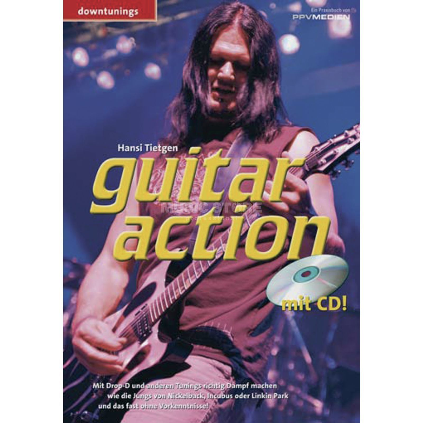 PPV Medien Guitar Action - Downtunings Hansi Tietgen, inkl. CD Produktbillede