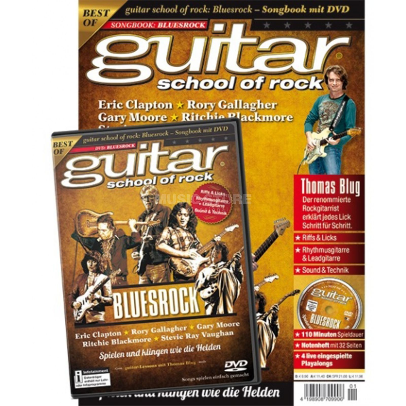 PPV Medien guitar school of rock: Bluesrock - Songbook mit DVD Produktbillede