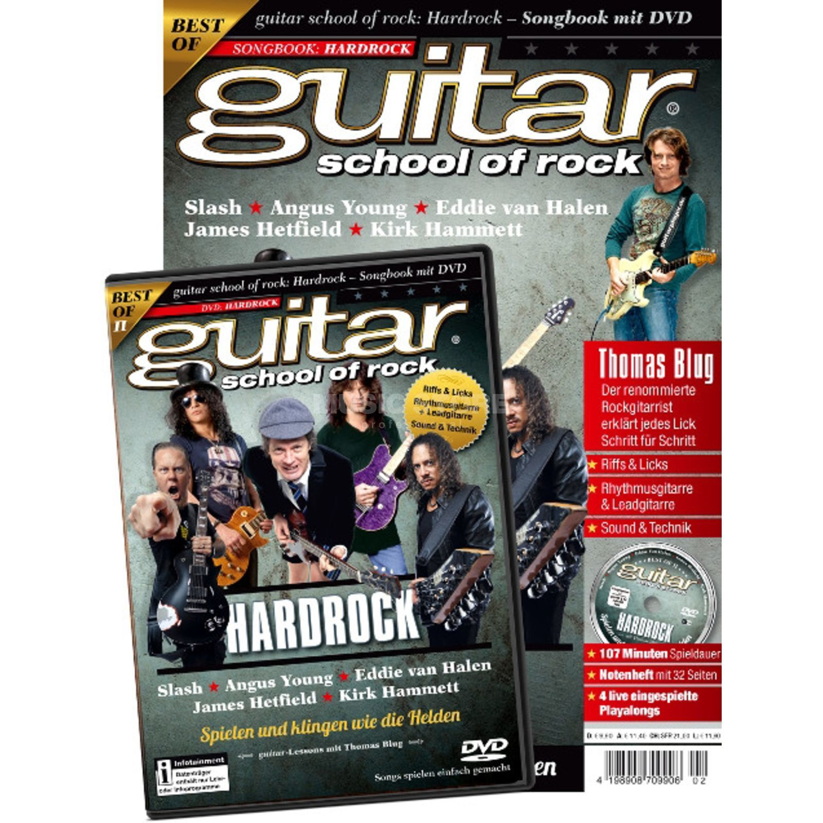 PPV Medien guitar school of rock: Hard Rock Songbook mit DVD Produktbillede