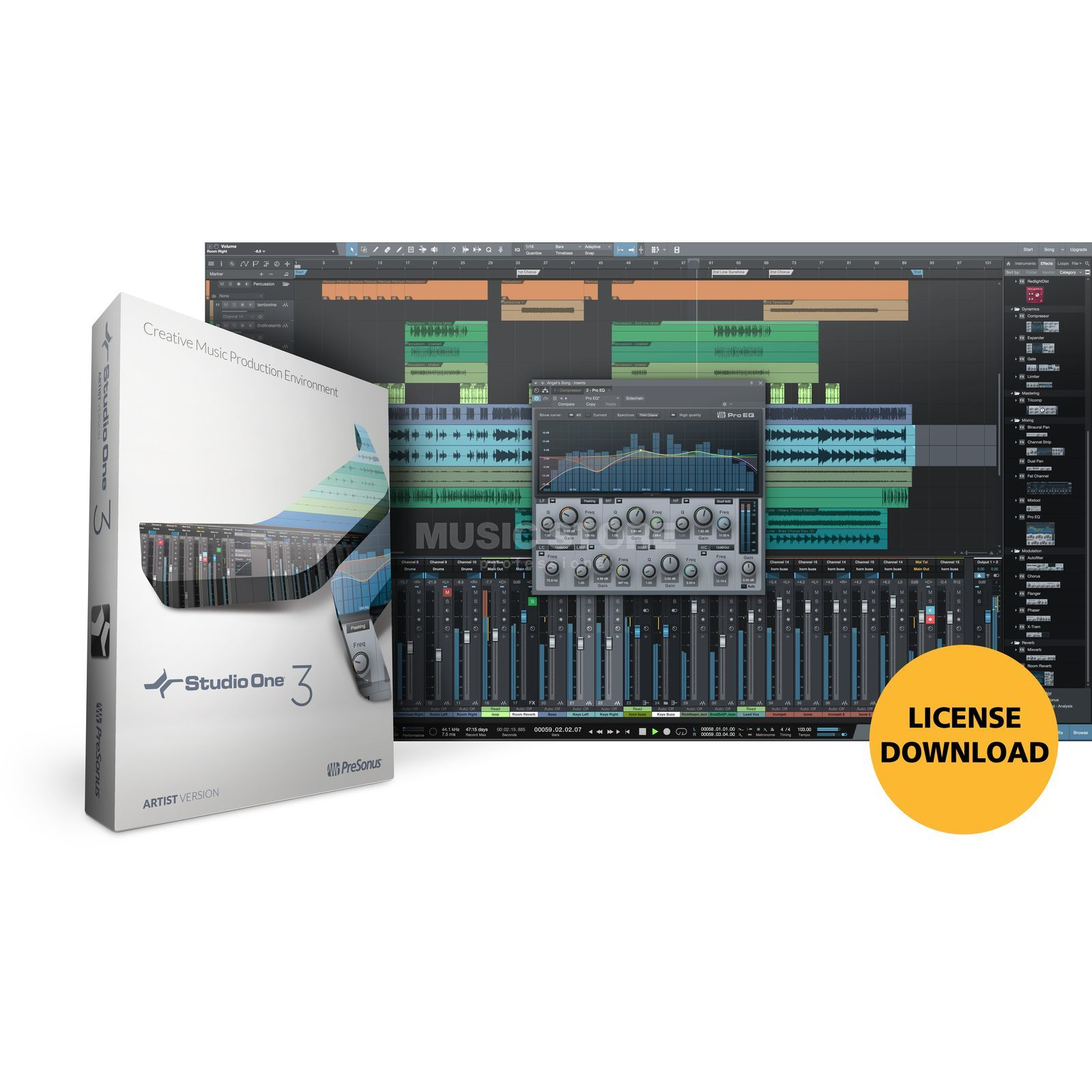 Presonus Studio One 3 Artist License Code Produktbild