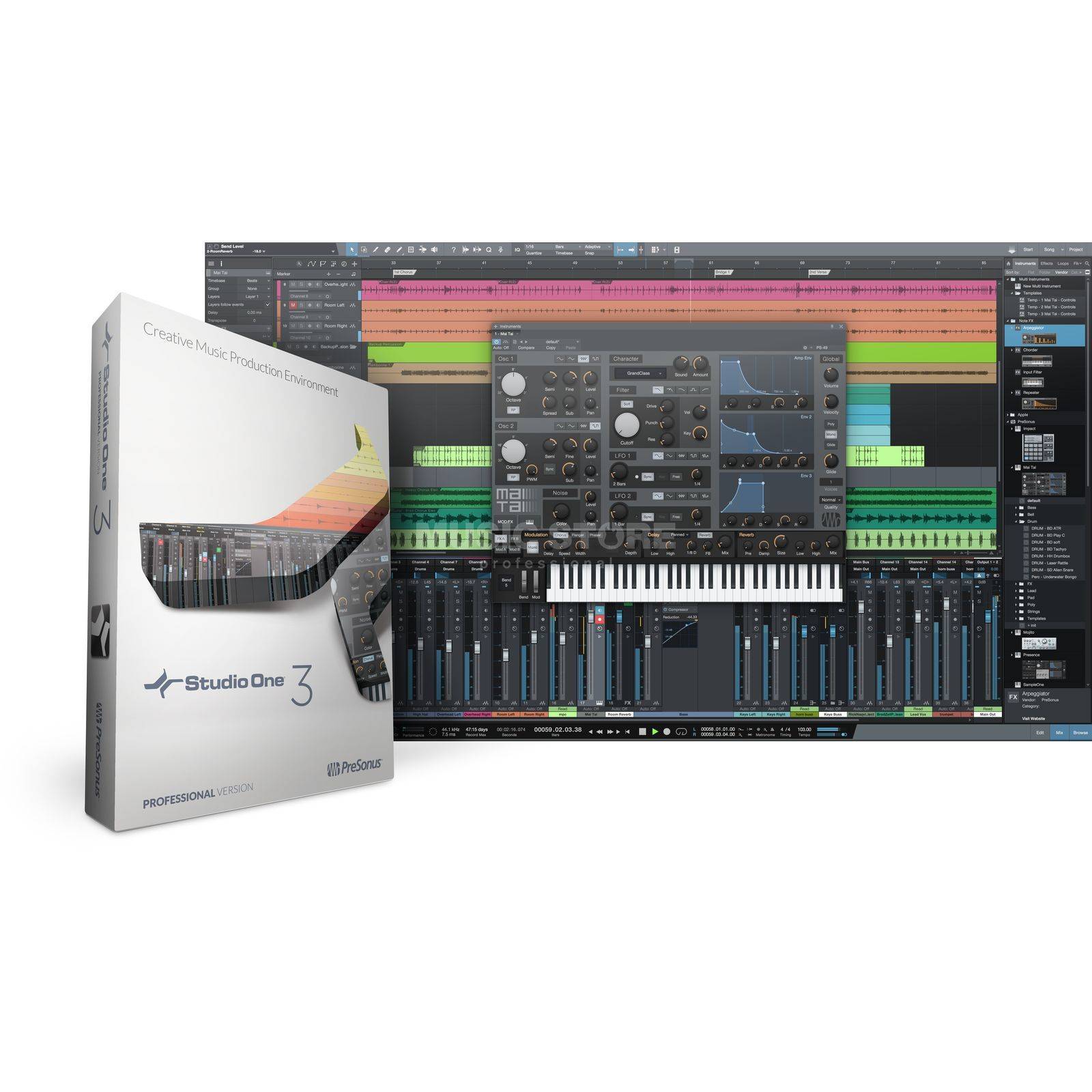 Presonus Studio One 3 PRO (Art3 UPG) Boxed Version Image du produit