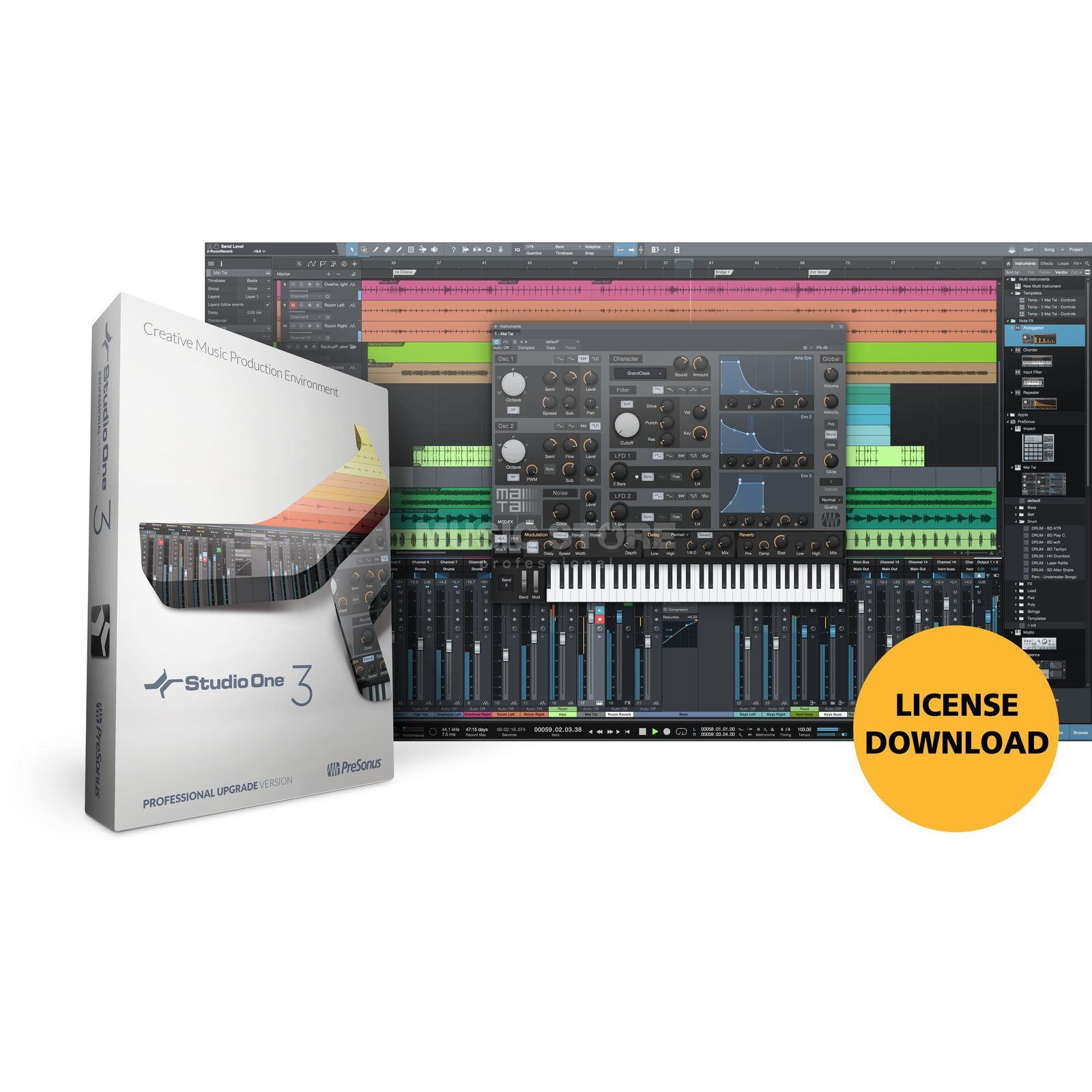 Presonus Studio One 3 Professional Upgrade 3 (Download) Produktbillede