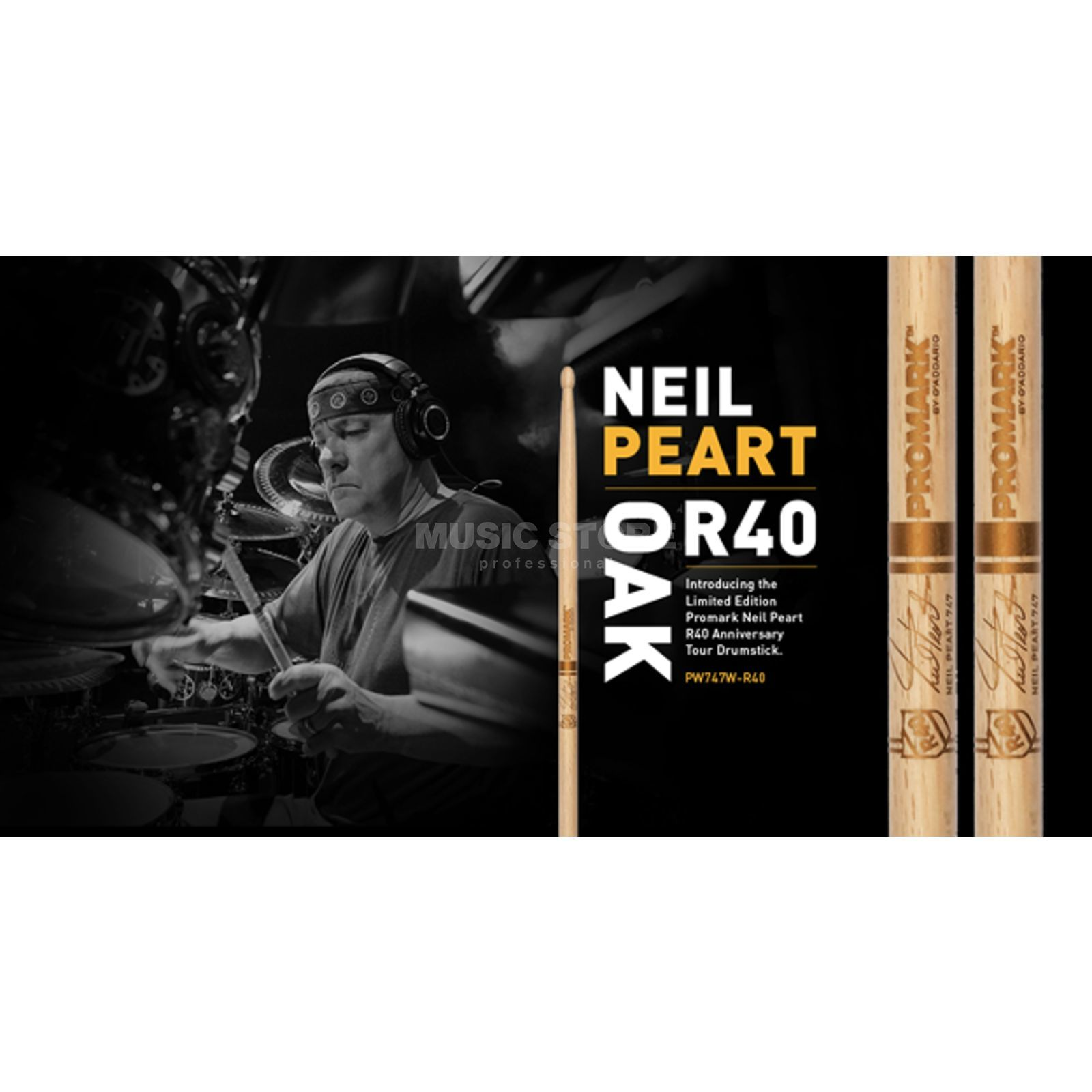 PRO-MARK PW747W-R40 Neil Peart Sticks, Japanese Oak Produktbild