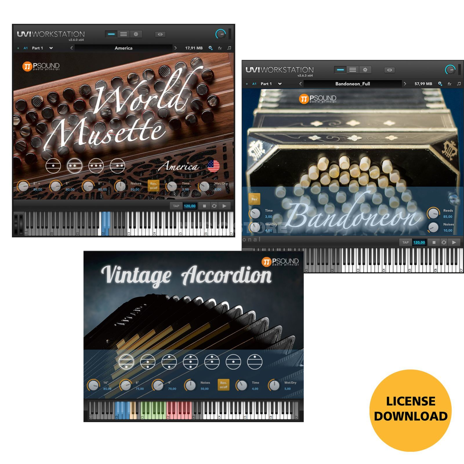 PSOUND PAOLO PRINCIPI Accordeon ALL-IN-Bundle (CODE) Produktbild