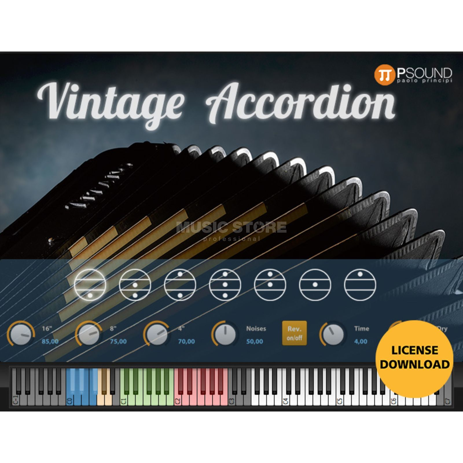 PSOUND PAOLO PRINCIPI PSOUND Vintage Accordeon (CODE) incl UVI Worksation Produktbillede