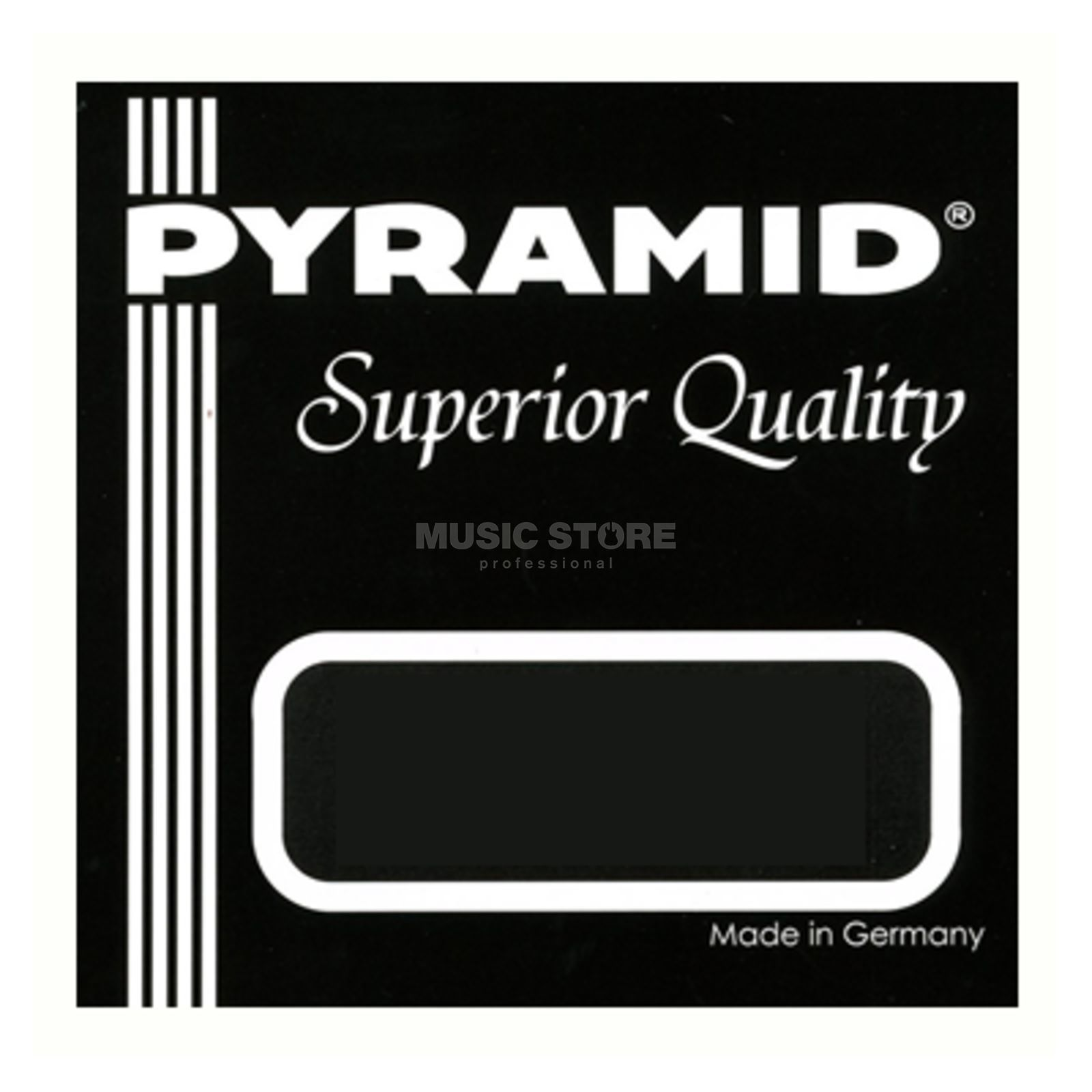 Pyramid U-bas Superior Quality Acoust zilver Plated Copper on Nylon Productafbeelding