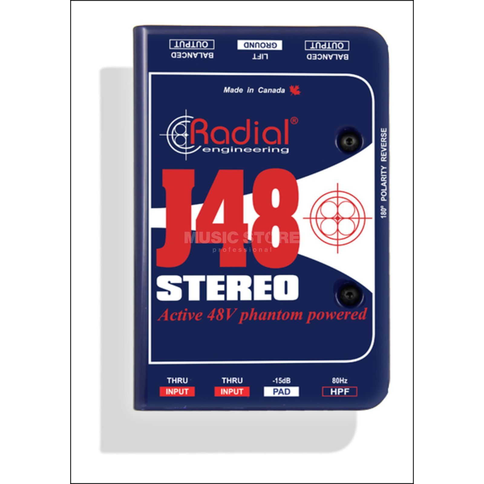Radial J-48 Stereo DI active phantom powered 48V Produktbild