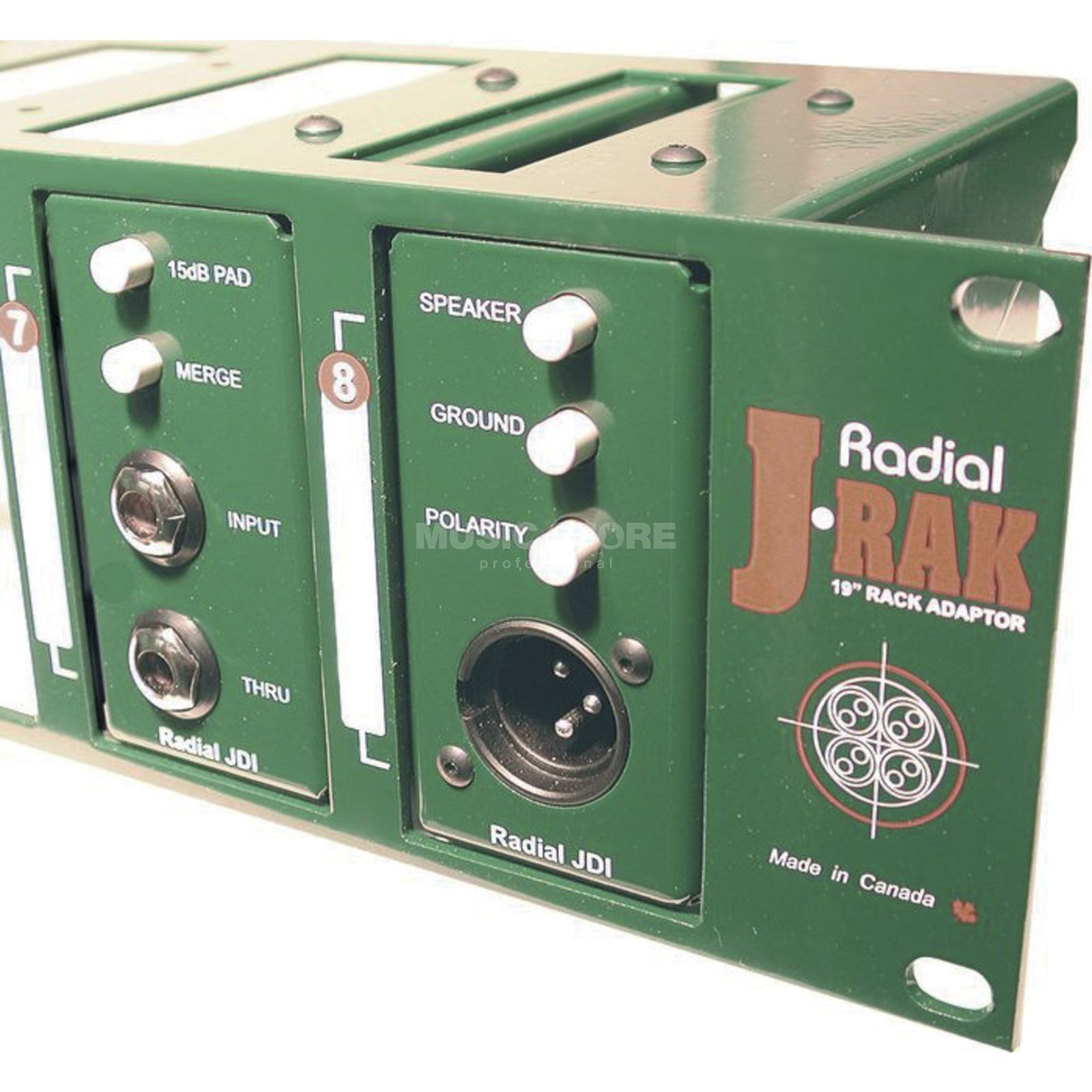 "Radial J-Rak 19"" Rack Adaptor for 8x Radial Di & Splitter Produktbillede"