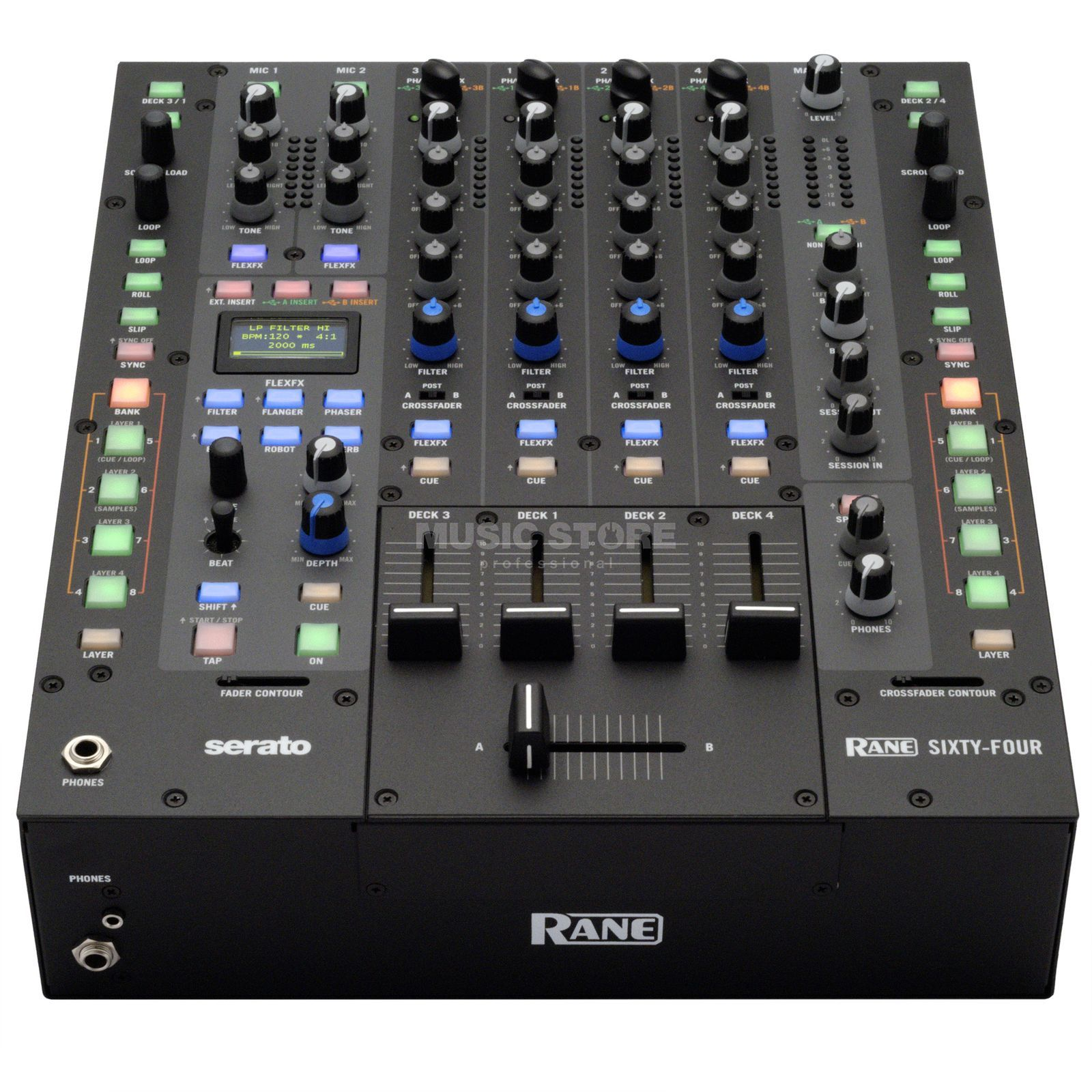 Rane SIXTY-FOUR 4-Channel Clubmixer incl. Serato DJ Software Produktbillede