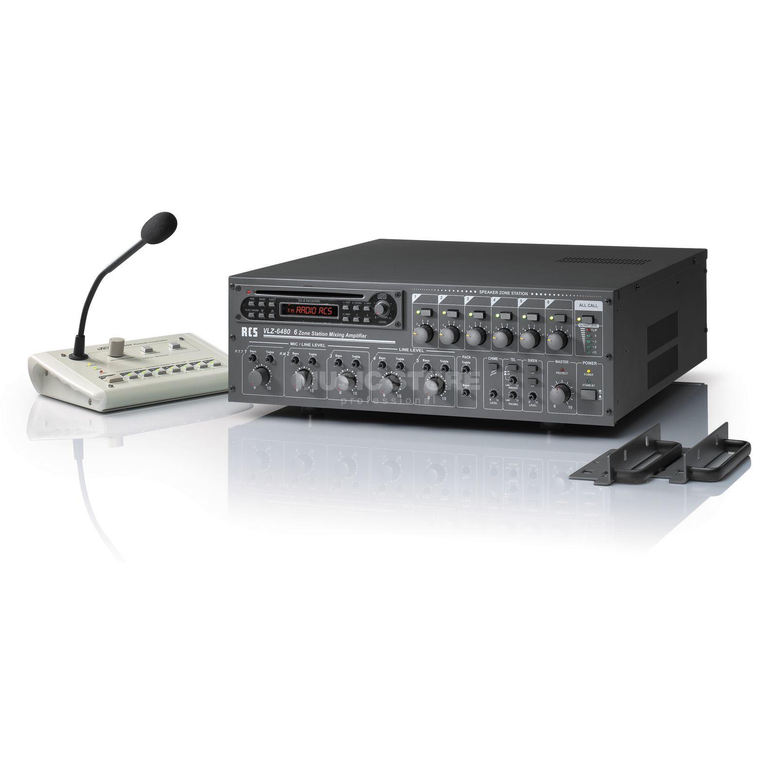 RCS Audio-Systems GmbH VLZ-6240A 6-Zones Mixer 240W RMS, 3HE Produktbillede