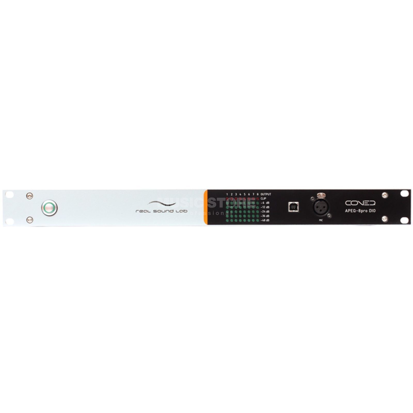 Real Sound Lab Apeq 8Pro DIO EQ, 8-Channel analog + Digital I/O, 2 HE Produktbillede
