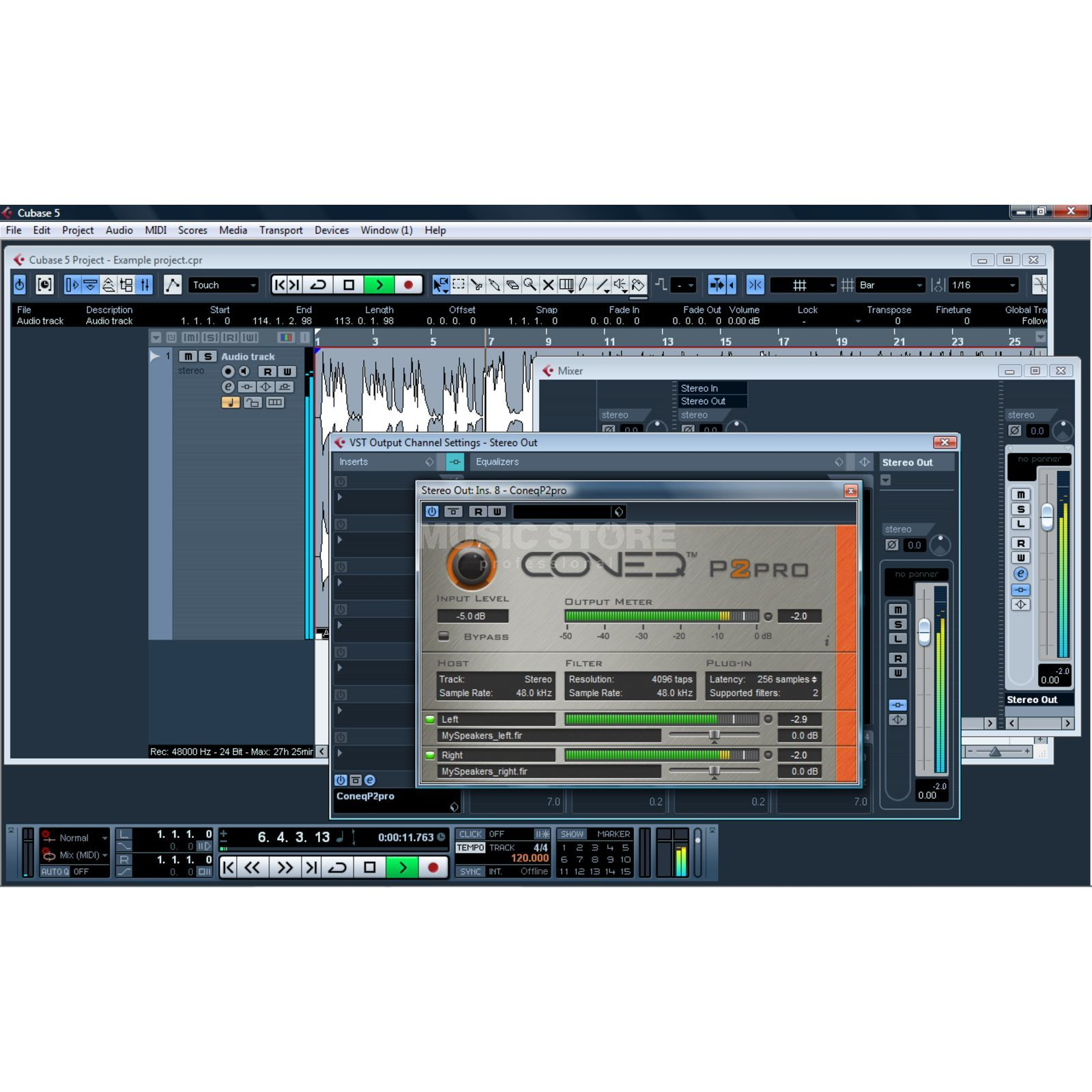 Real Sound Lab Coneq P2 Software Equalizer RTAS+VST, 1024 TAPS/Filter.2ch Produktbillede