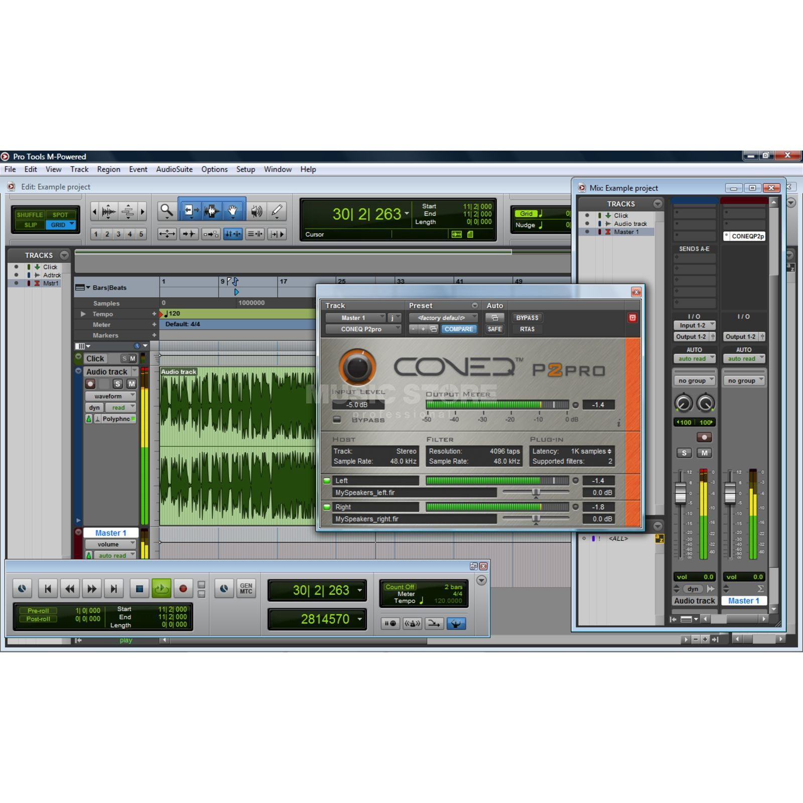 Real Sound Lab Coneq P2pro Softwareequalizer RTAS+VST, 4096 TAPS/Filter,2ch Produktbild