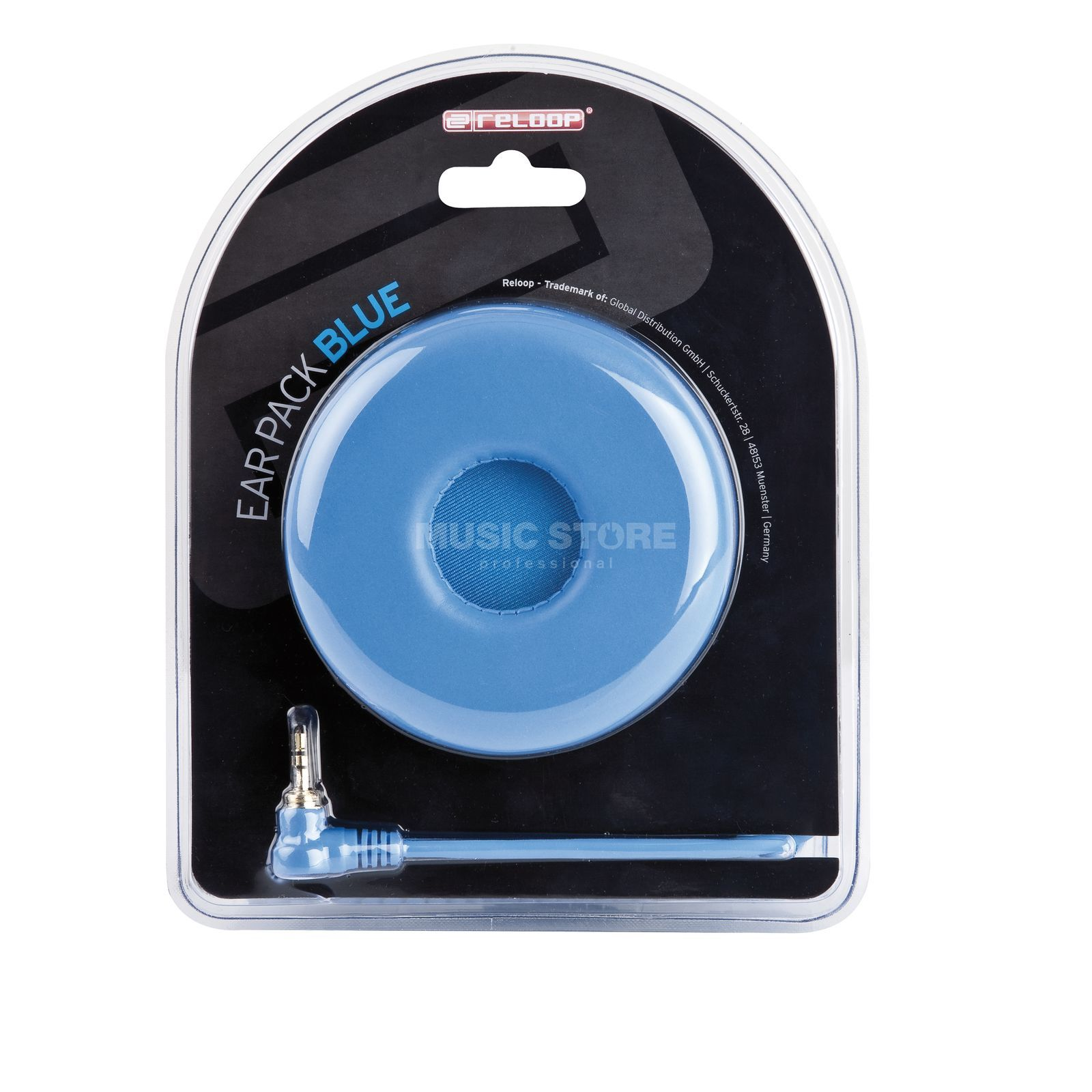 Reloop Ear Pack / Spiral Cable blue Product Image