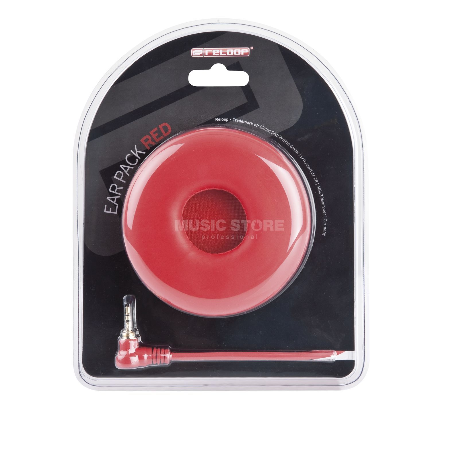 Reloop Ear Pack / Spiral Cable red Produktbillede