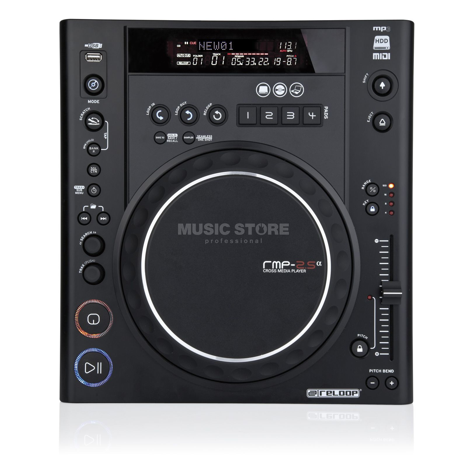 Reloop RMP-2.5 Alpha Cross Media-Player Imagem do produto