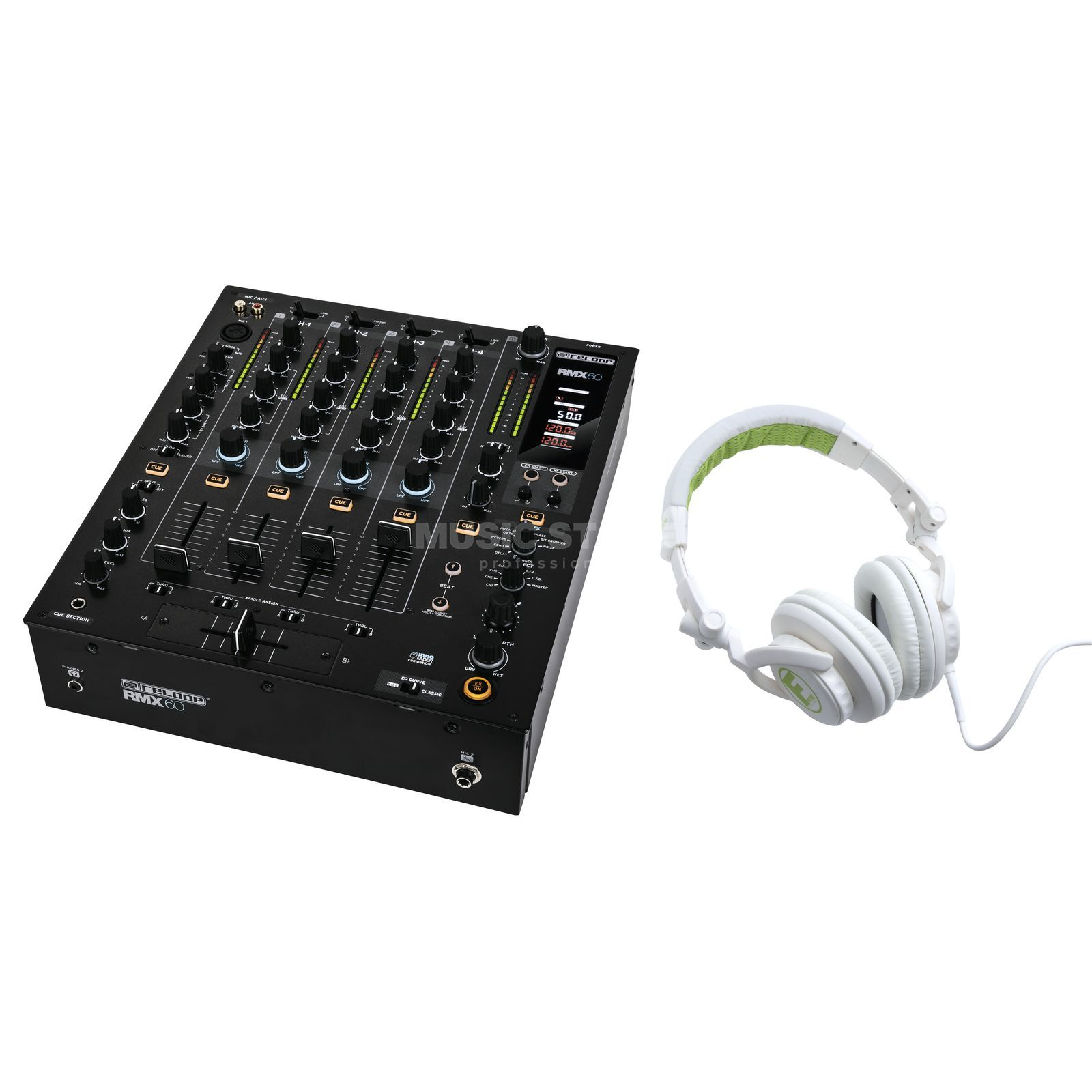 Reloop RMX-60 + hD-1000 lime - Set Produktbild