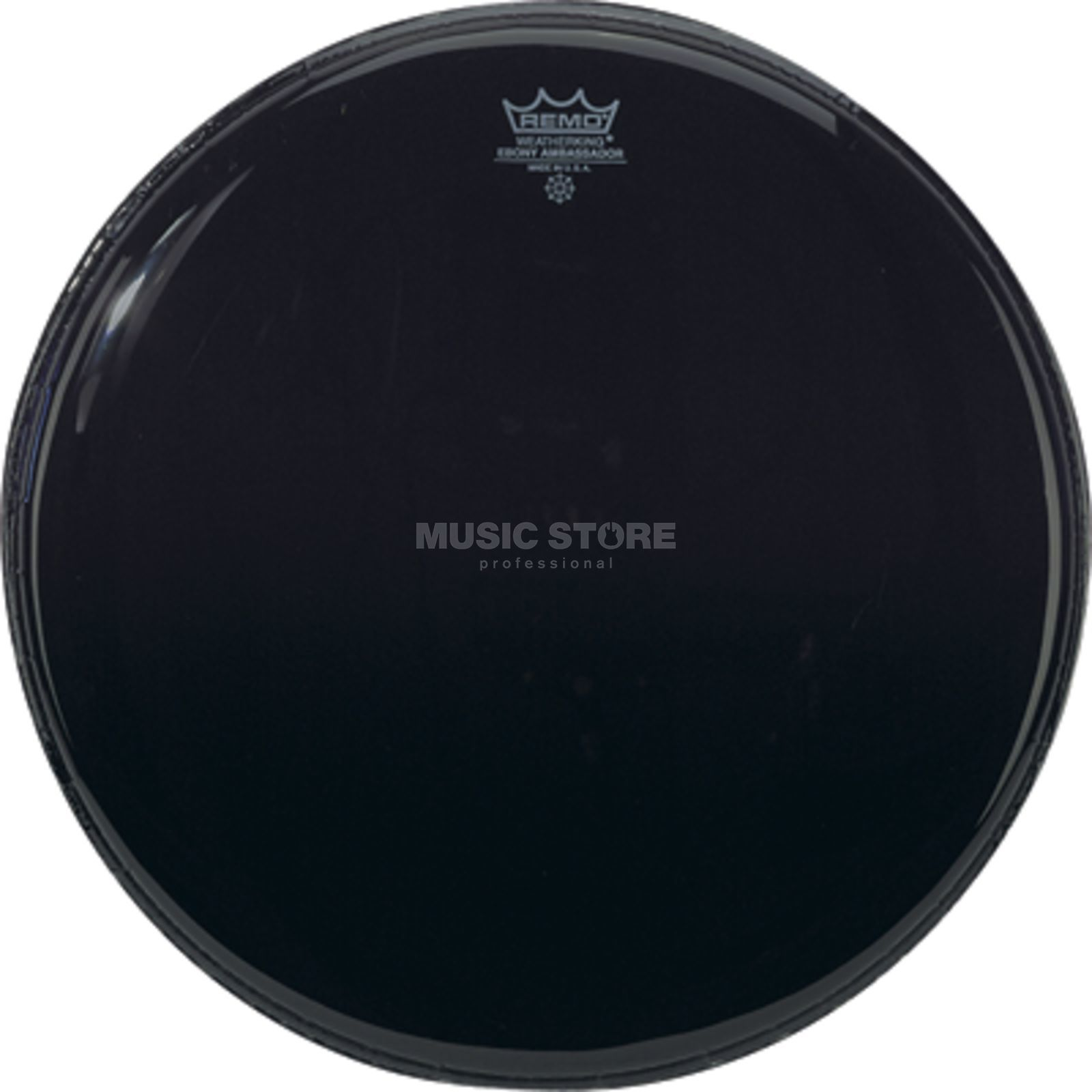 "Remo Ambassador Ebony 14"", Tom Batter/Reso Product Image"