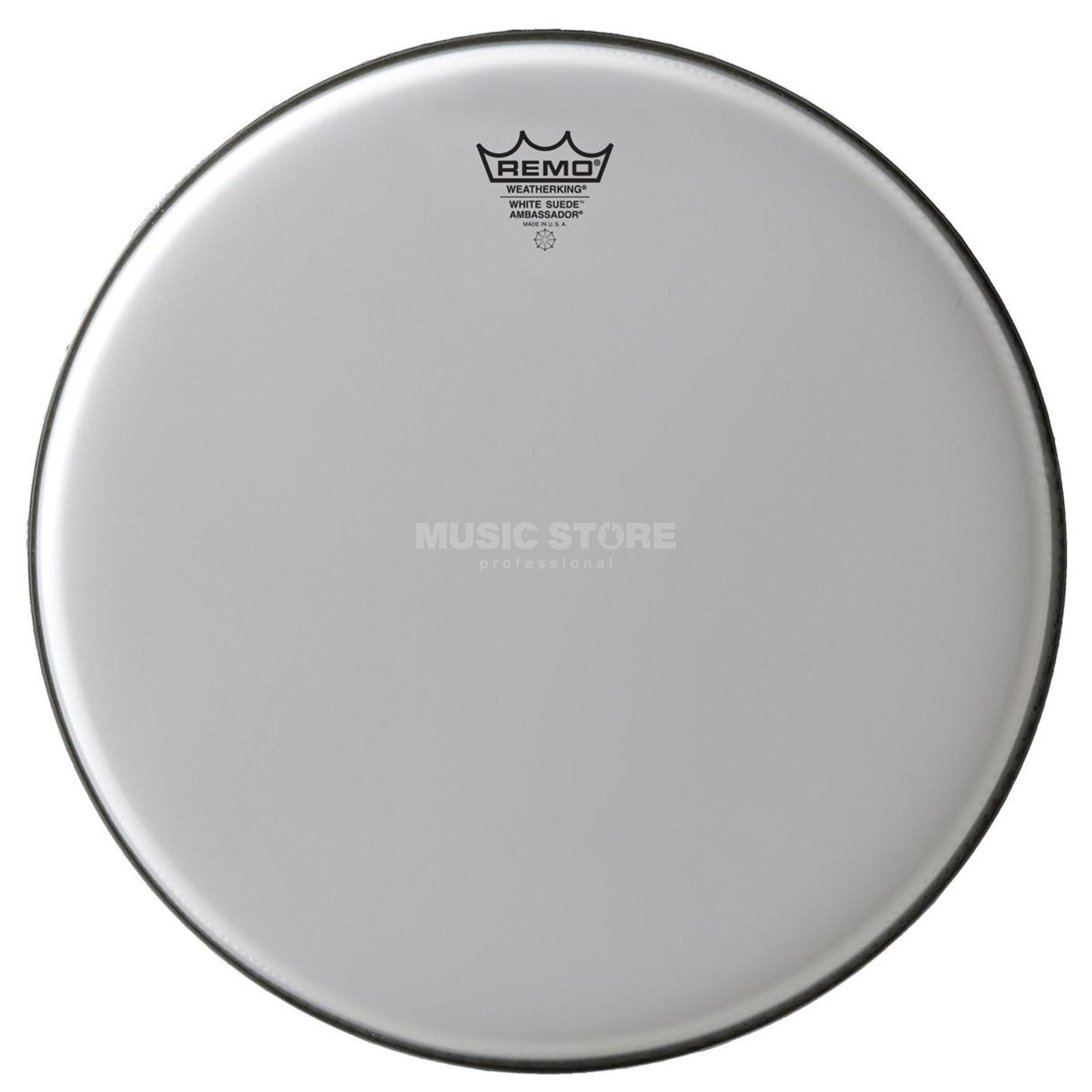 "Remo Ambassador White Suede 12"", Tom Batter/Reso Product Image"