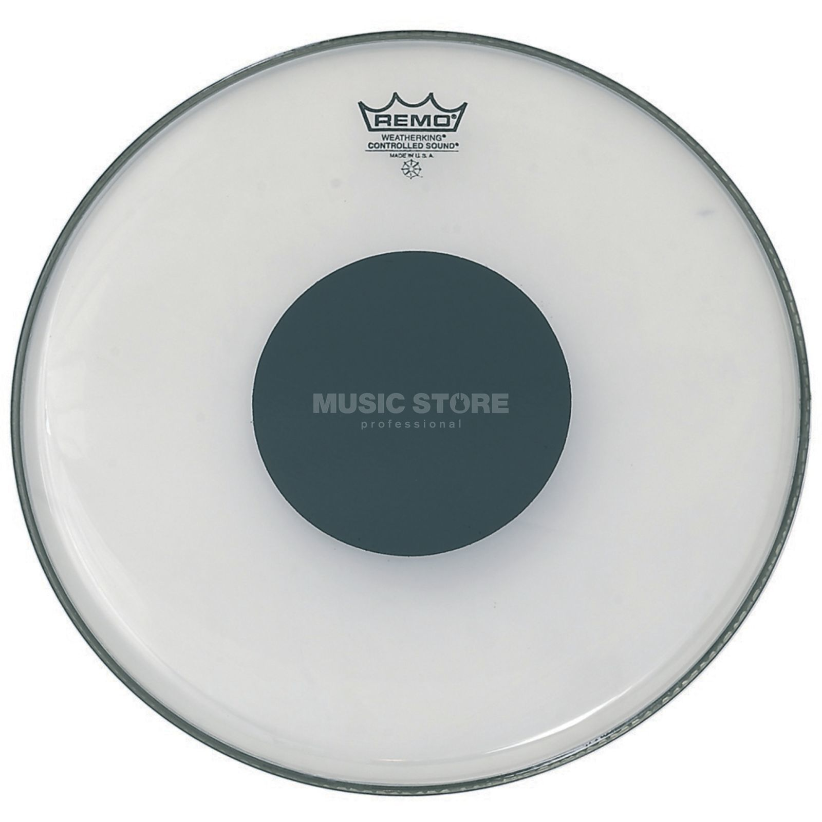 "Remo CS Ambassador Clear 14"", Black Dot, Tom Batter Produktbillede"