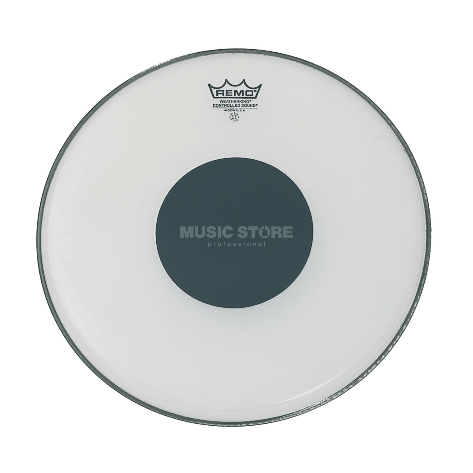 "Remo CS Ambassador White 14"", Black Dot, Tom Batter Produktbillede"