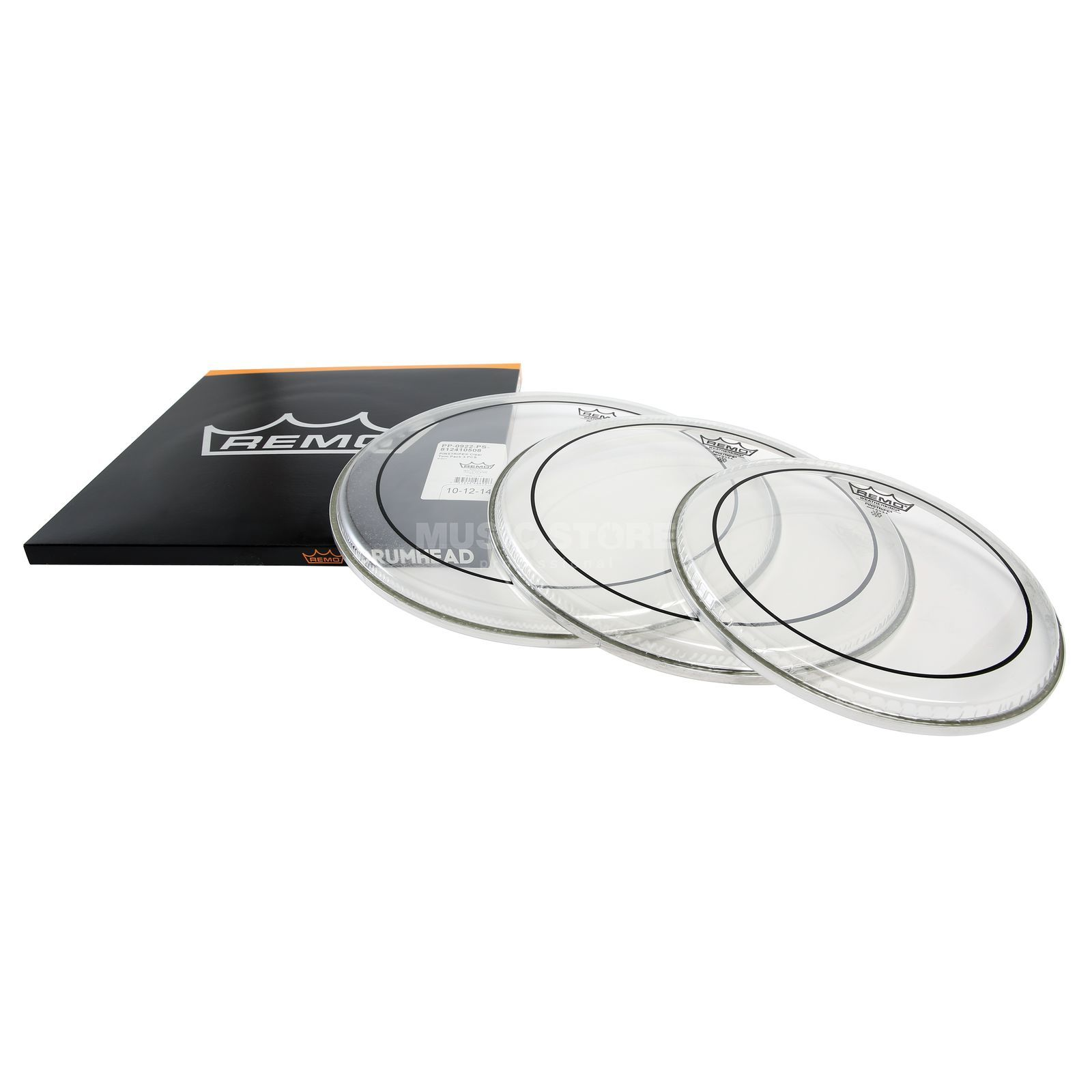 "Remo Drumhead Set Pinstripe, clear, Fusion: 10"",12"",14"" Product Image"