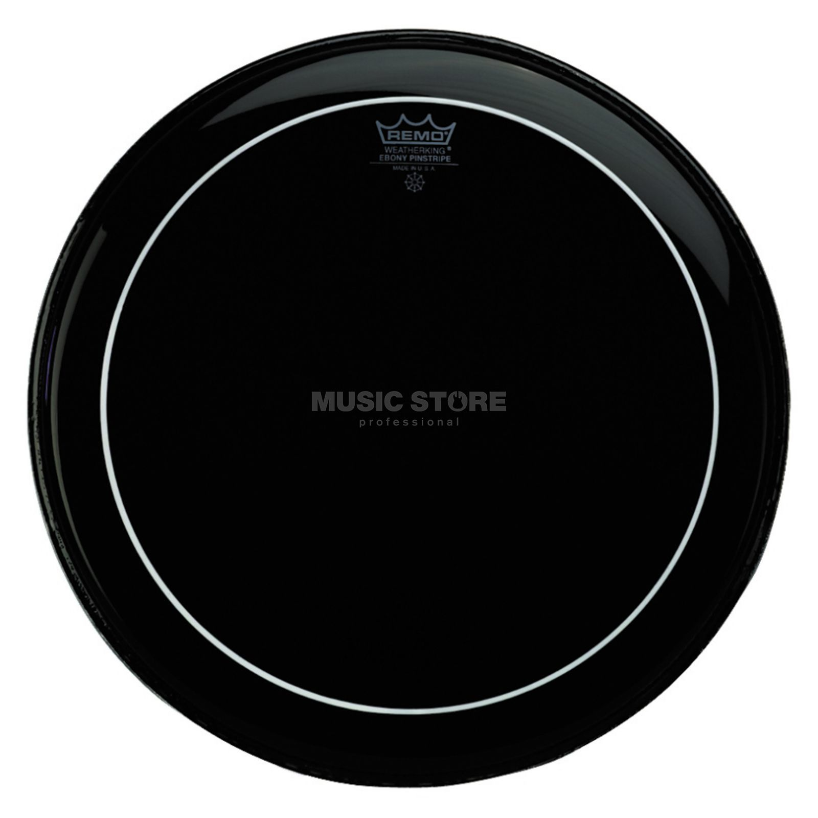 "Remo Pinstripe Ebony 20"", basDrum Batter, B-Stock Productafbeelding"